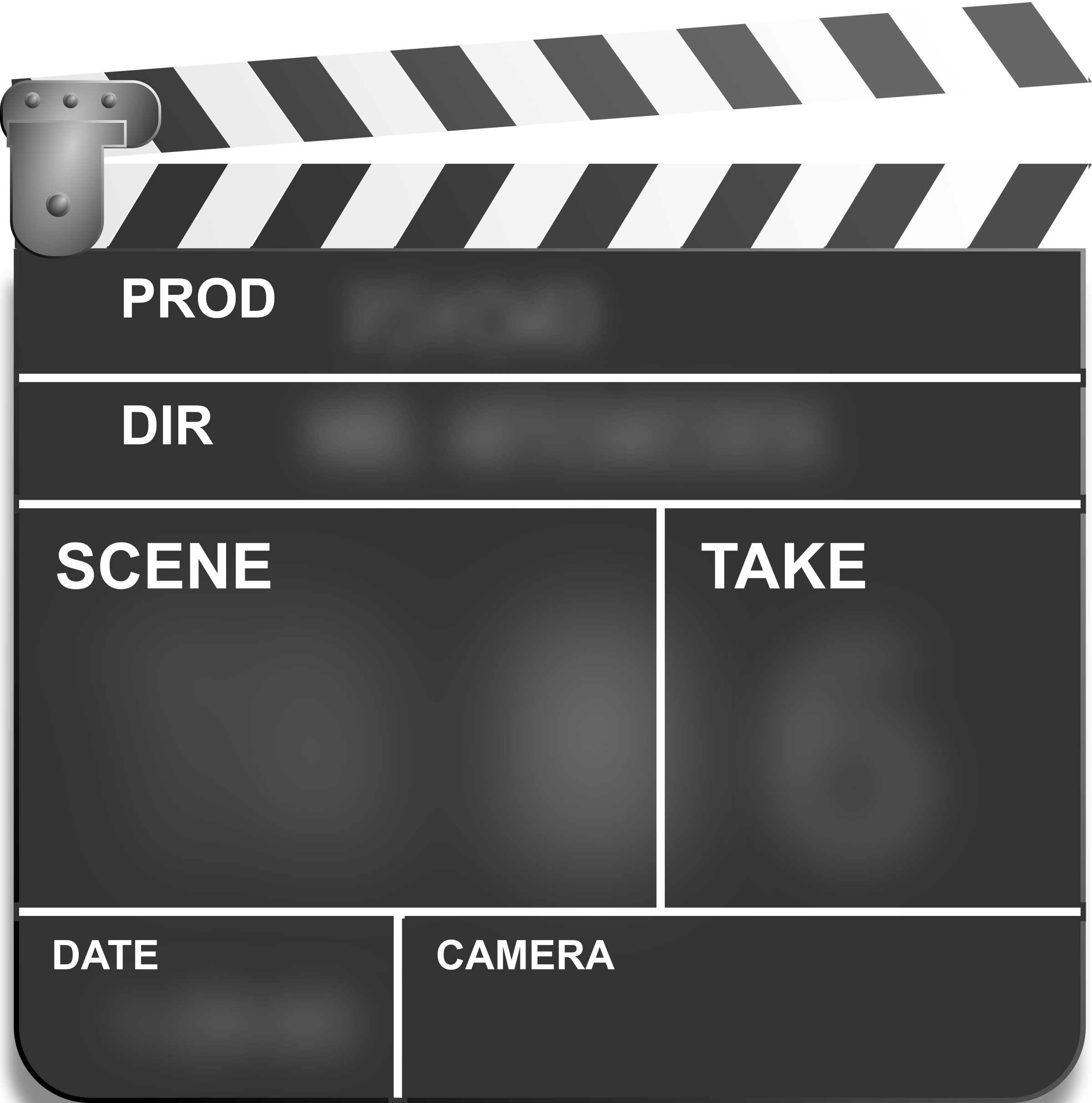 Motion Picture Film Slate Clapper by studio_hades