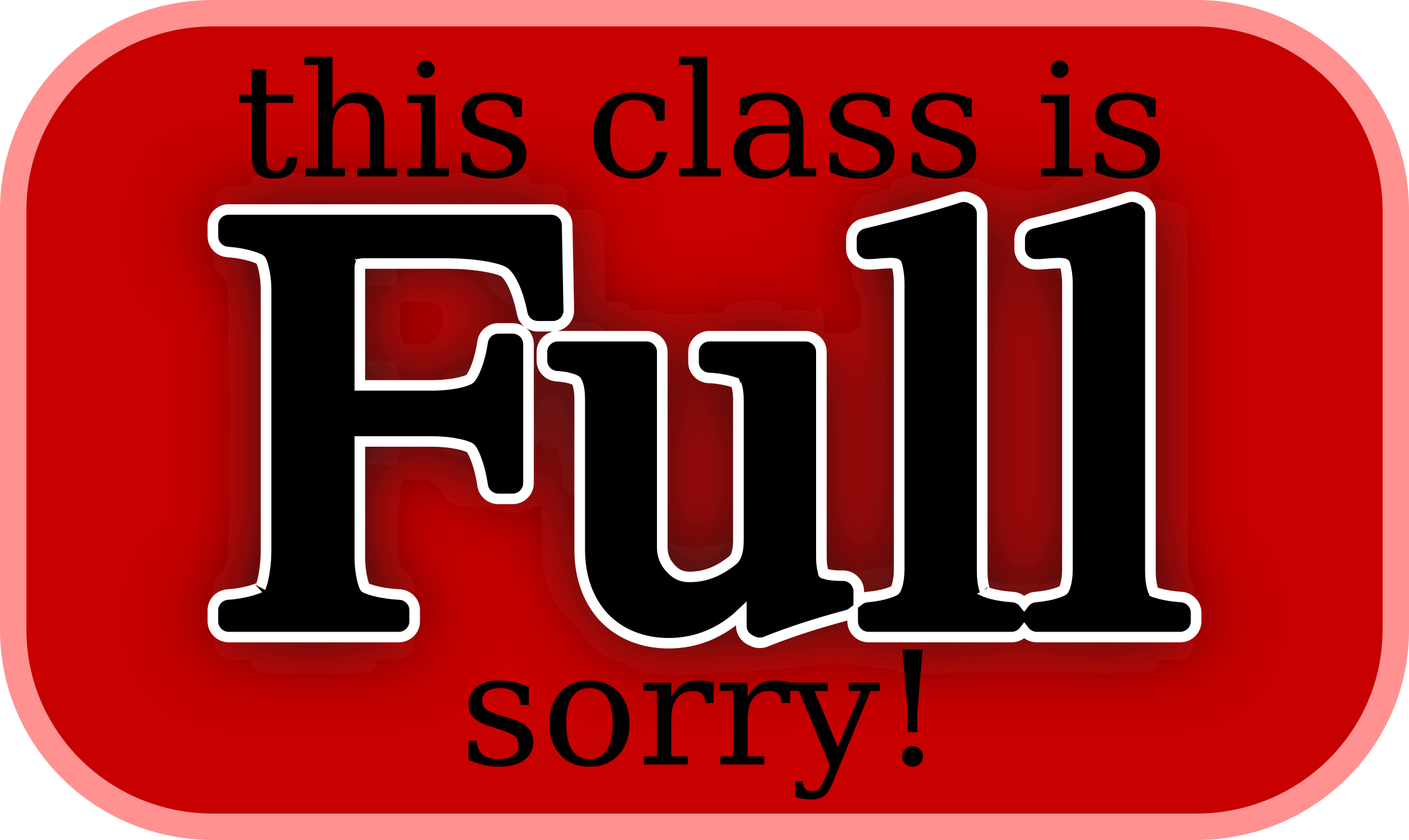 this class is FULL sorry by pbhj