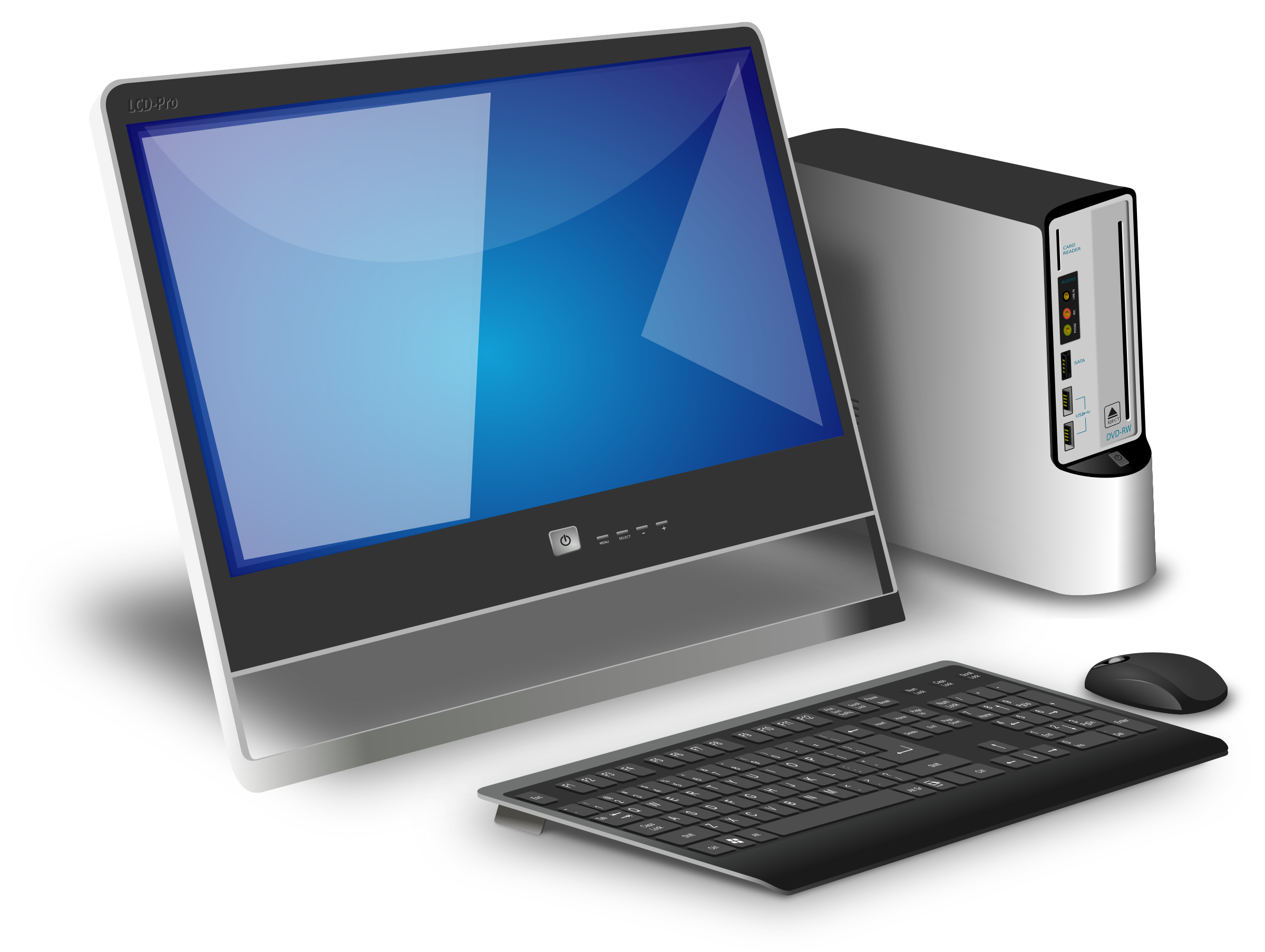 Generic office desktop by spylt