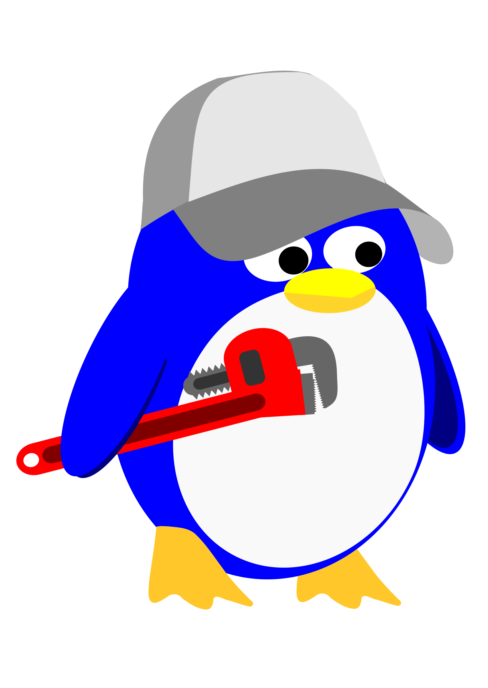 Plumber Penguin by tuxwrench