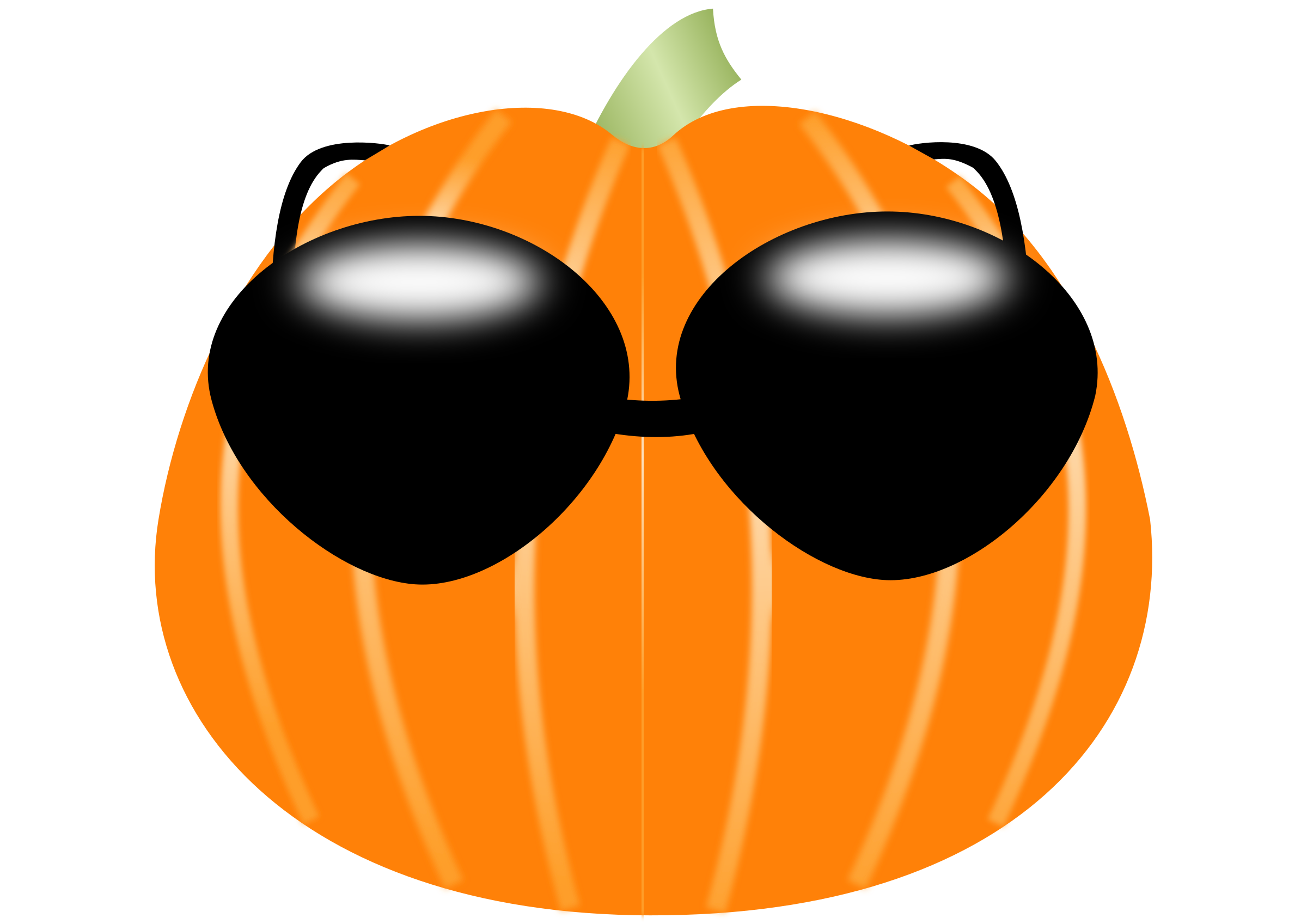 Pumpkin wearing sunglasses by Artmaker