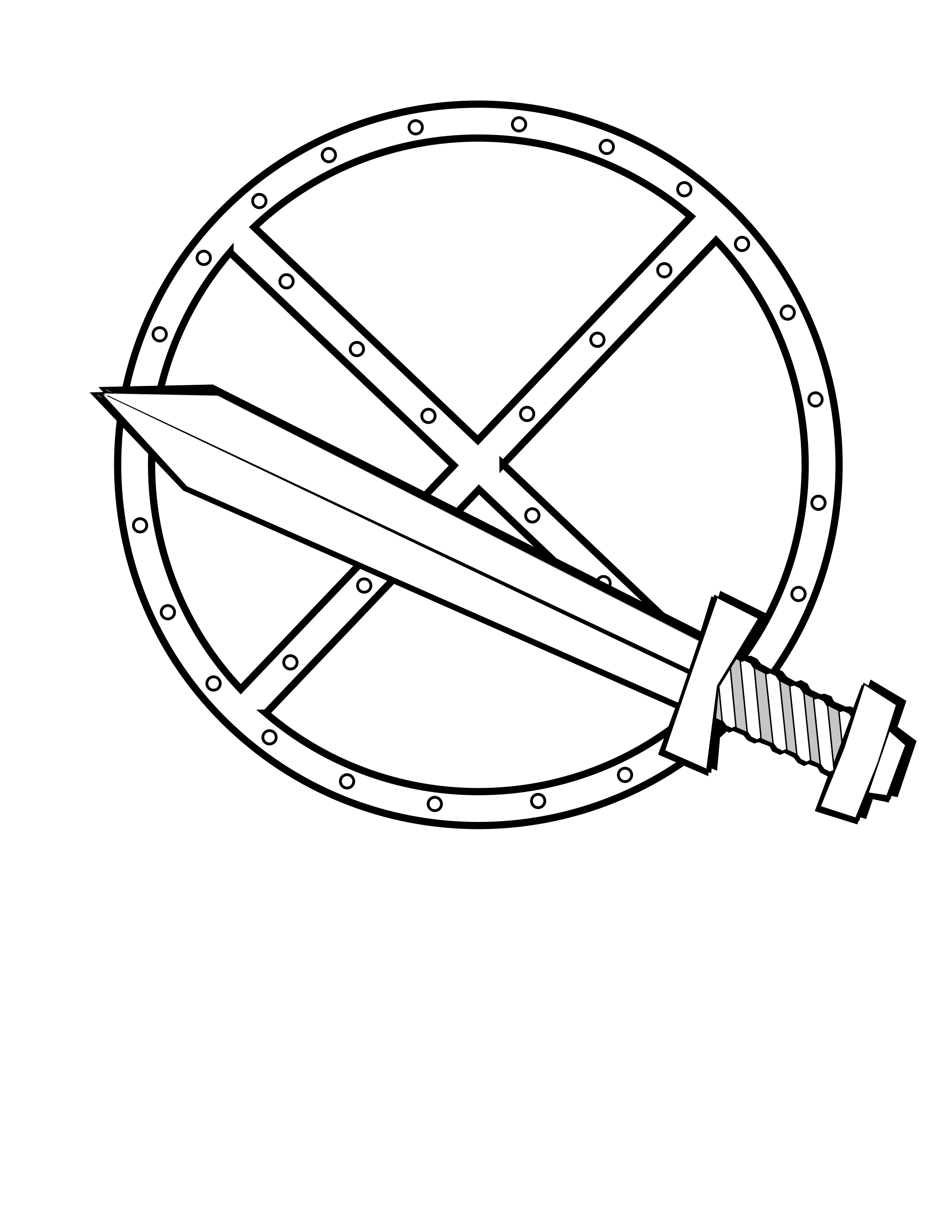 clipart round sword and shield