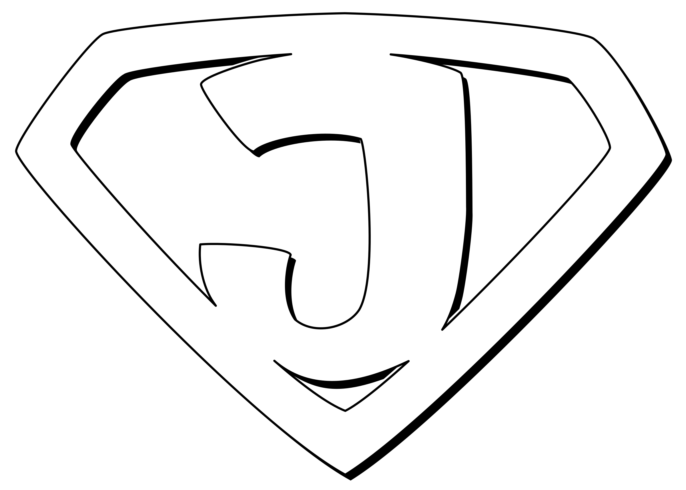 Super Jesus Outline by rygle