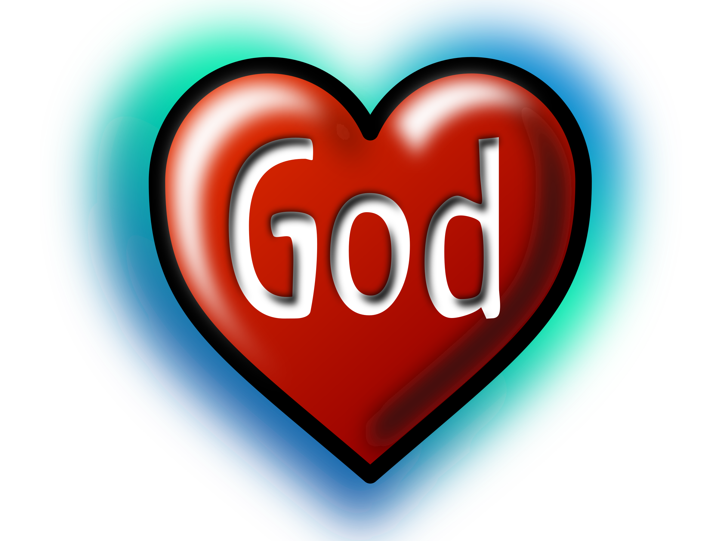 God Heart (Text converted to image|path) by rygle