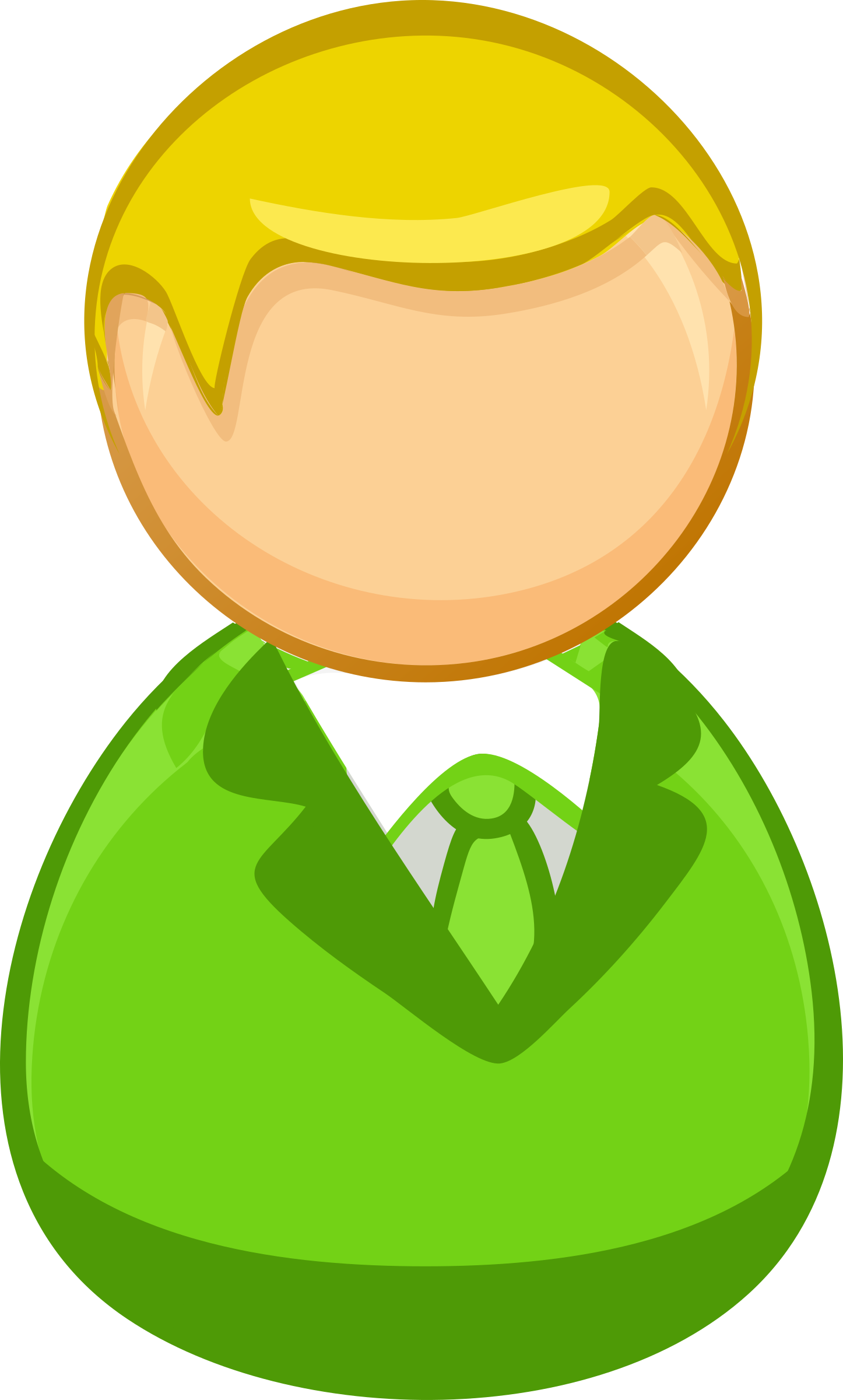 Architetto remix - Green blond man icon by alexg