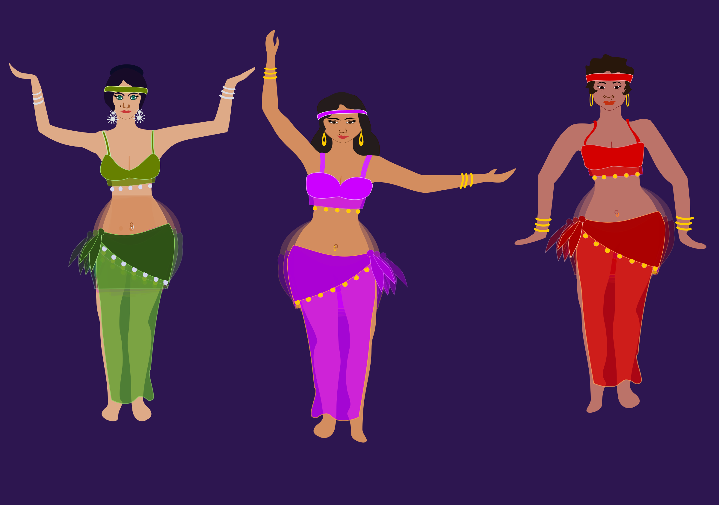 belly dancers by OlKu