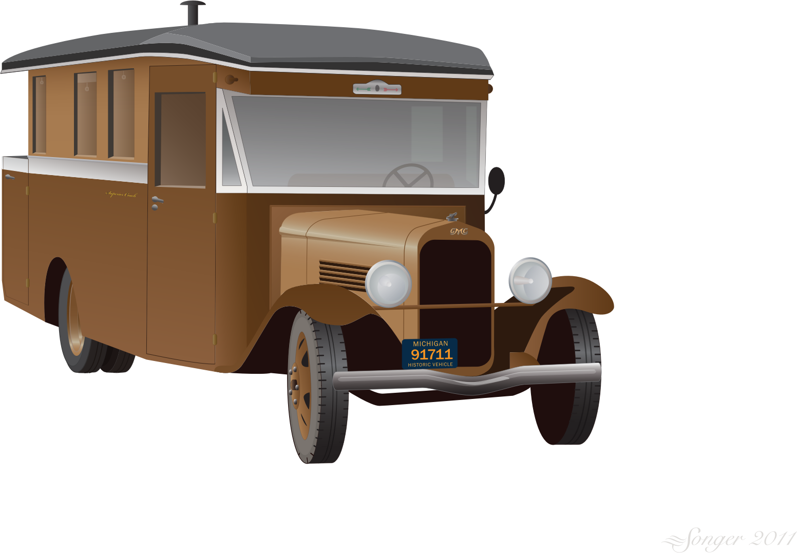 Old Truck Camper by bnsonger47