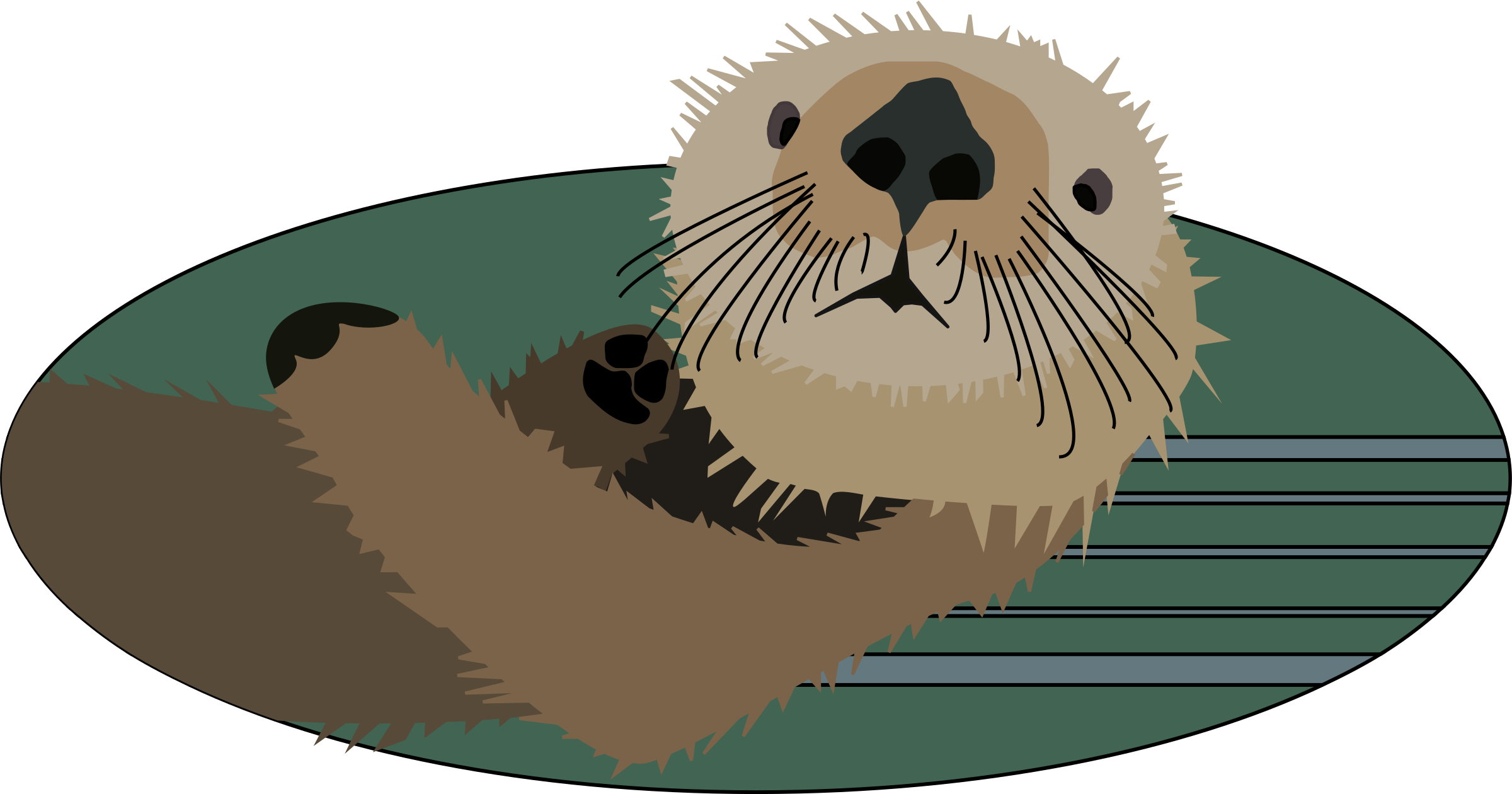 Sea otter by markc09