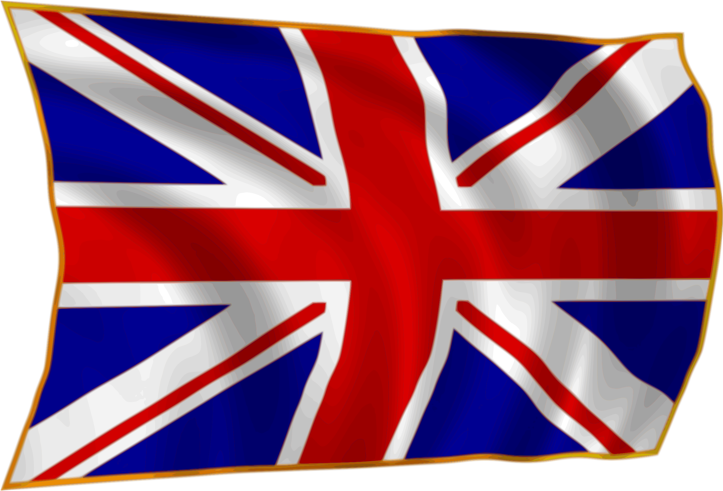 Union Flag fluttering in breeze by gooBall