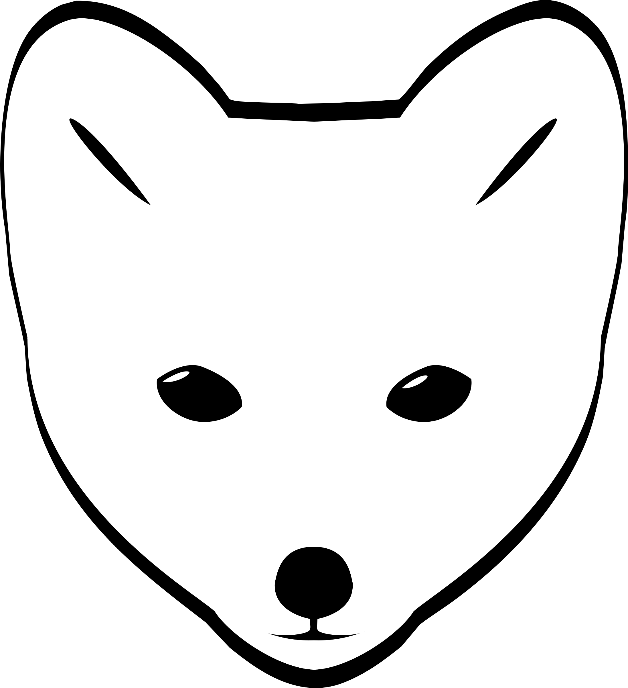 Clipart Arctic Fox Head