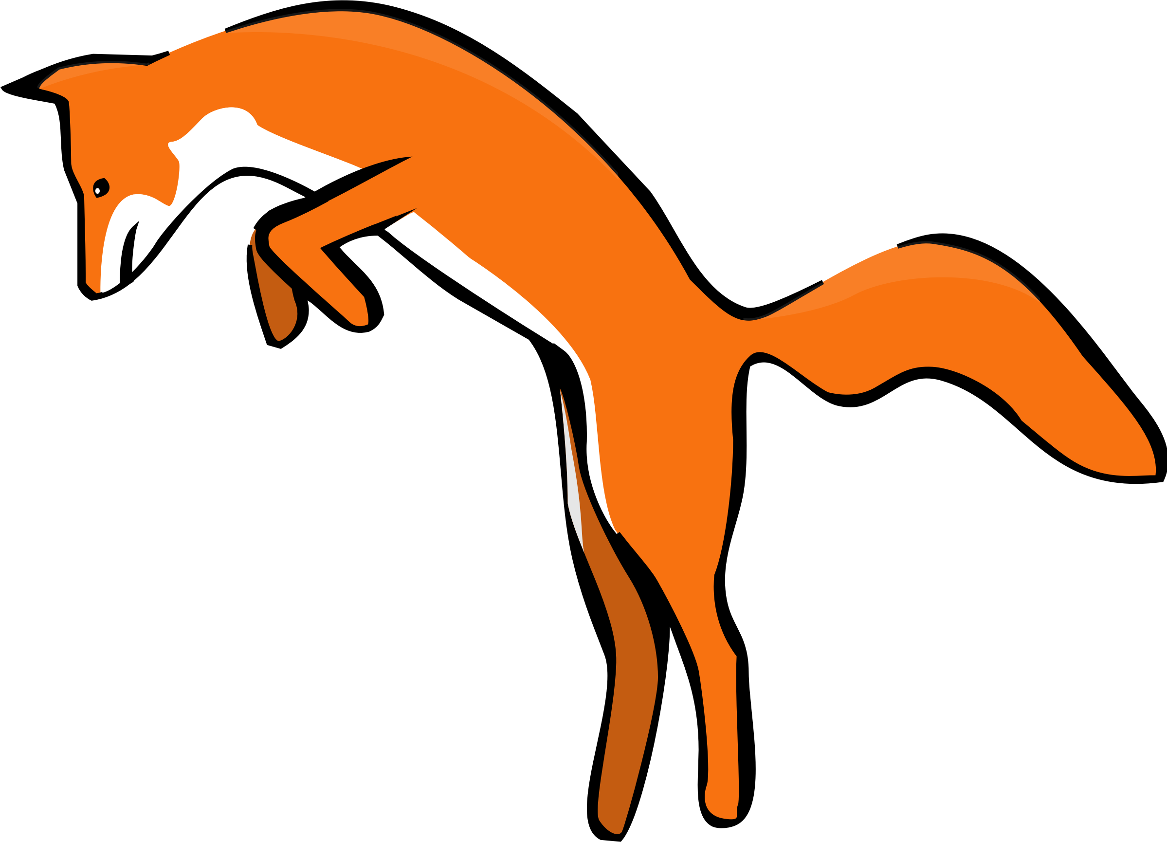 Leaping Red Fox by luchapress
