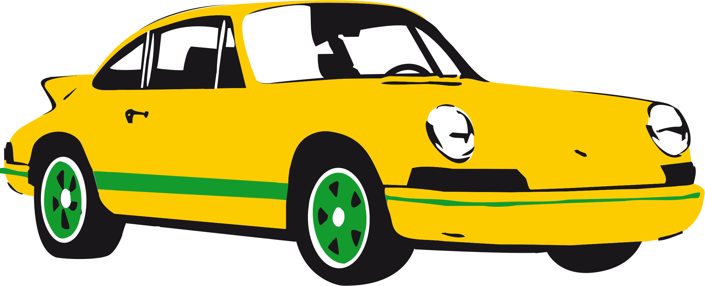 Sport car yellow by luchapress