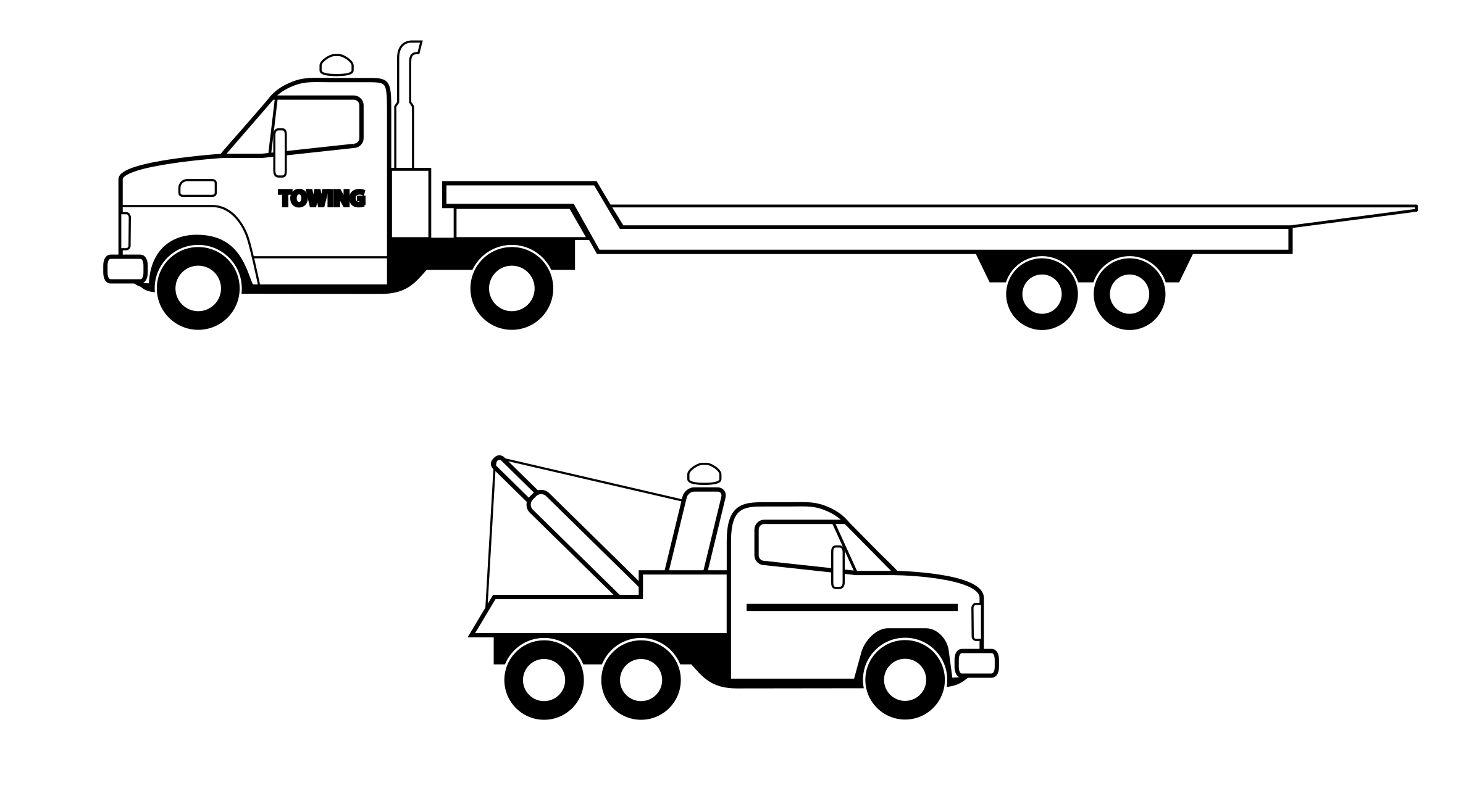 Deux camions noirs  by cyrille