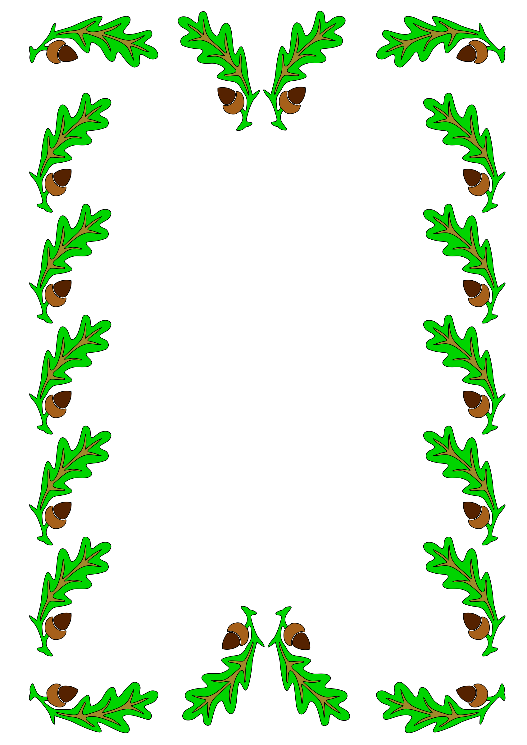 Clipart - oak leaf