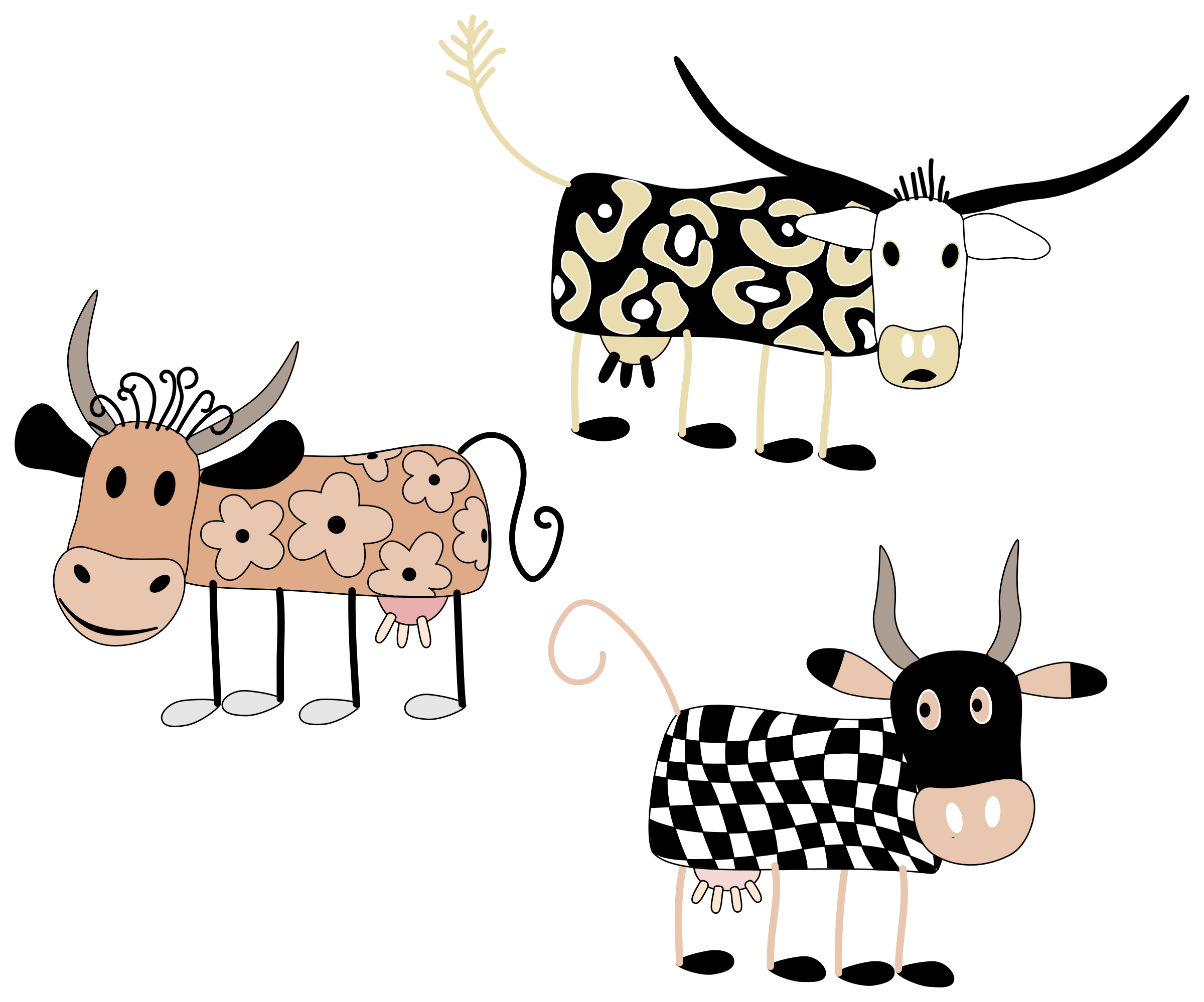 Cartoon Cows by WolfgangWgn