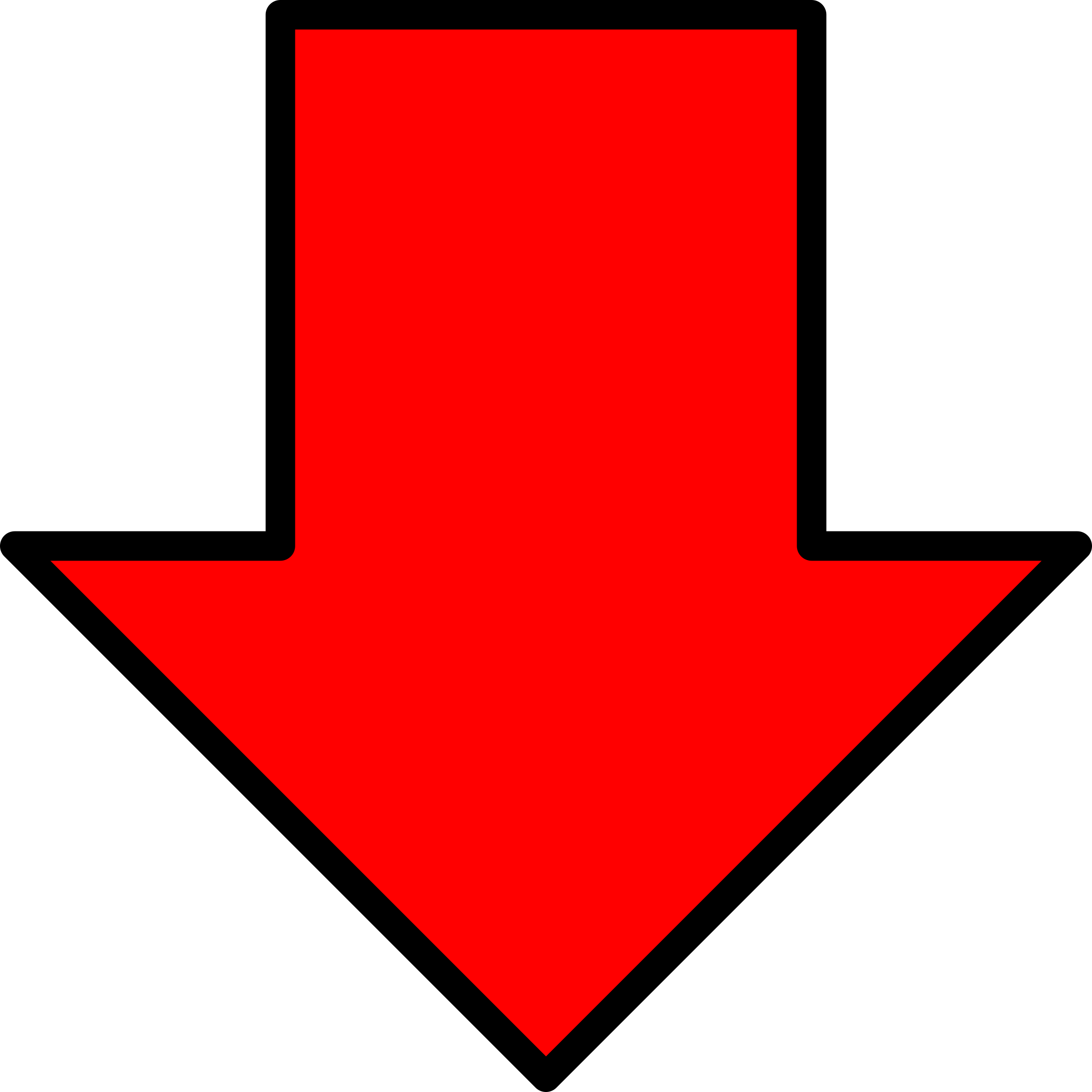 Image result for red arrow down