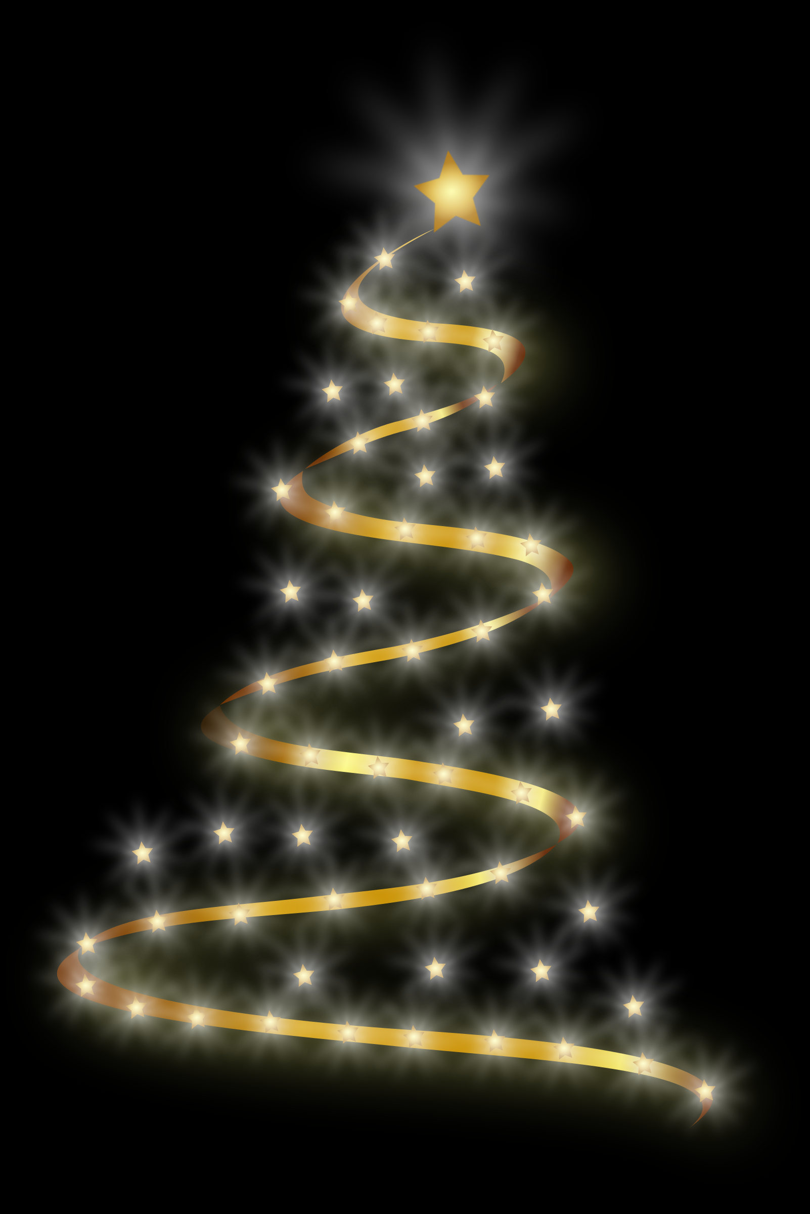 Clipart modern christmas tree 4 for Modern gold christmas tree
