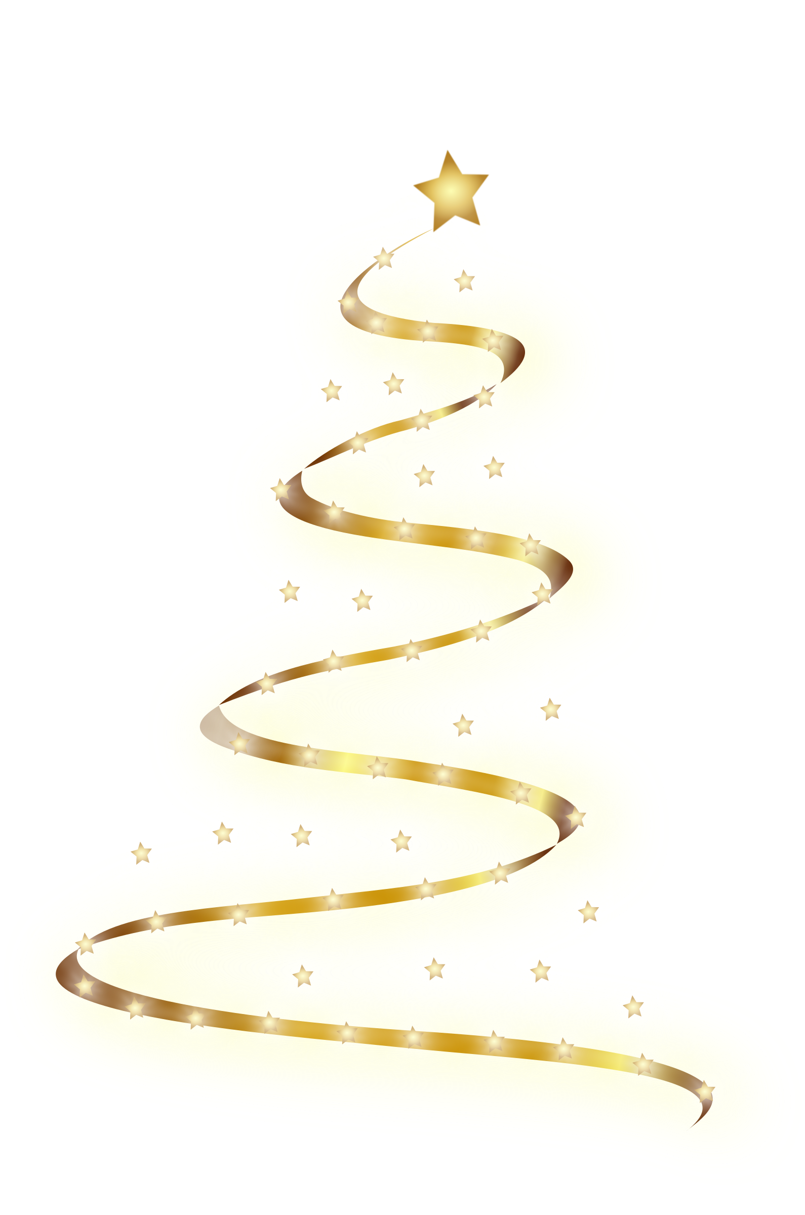 Clipart modern christmas tree 5 for Modern gold christmas tree