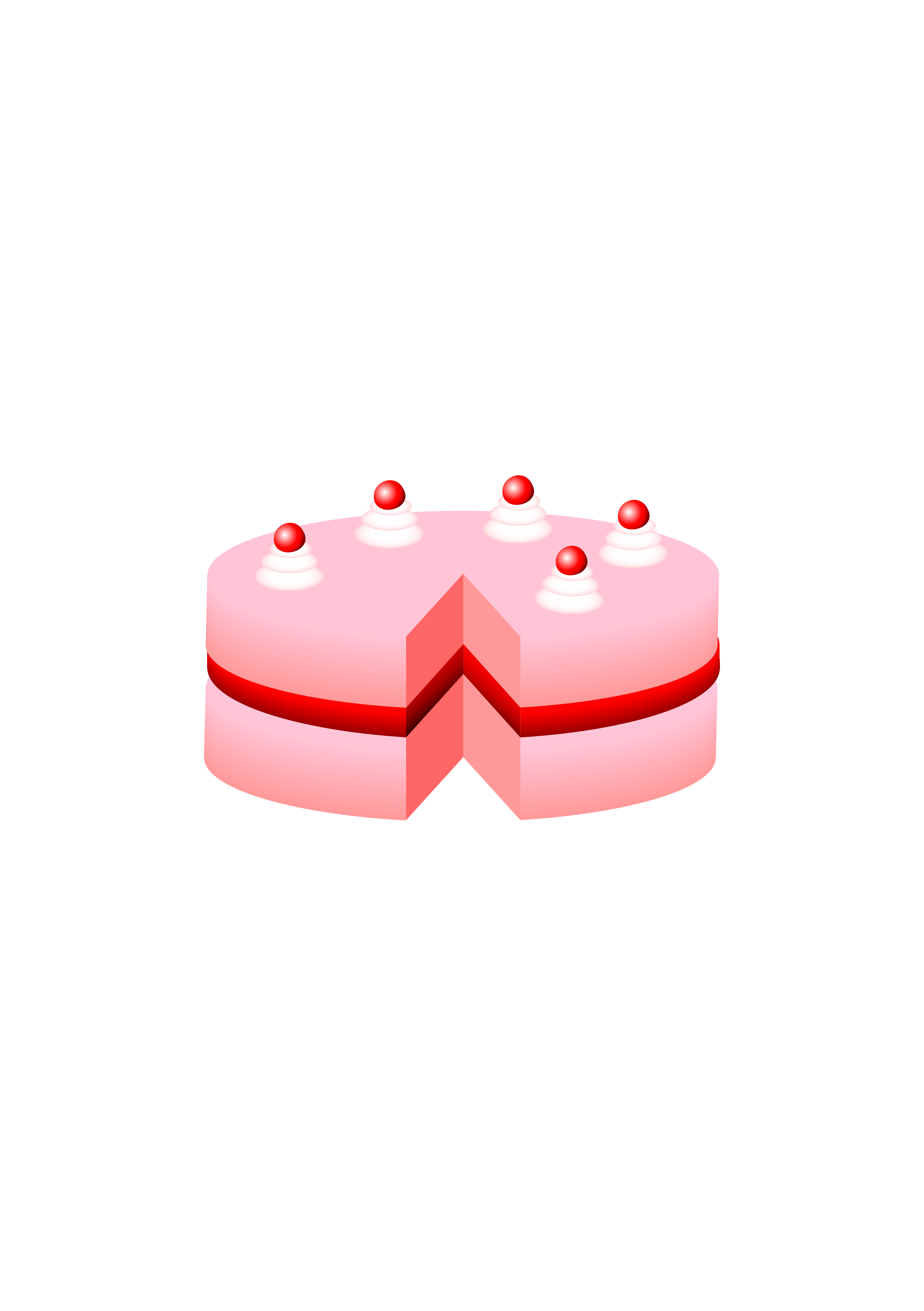 pink cake no plate by bqk
