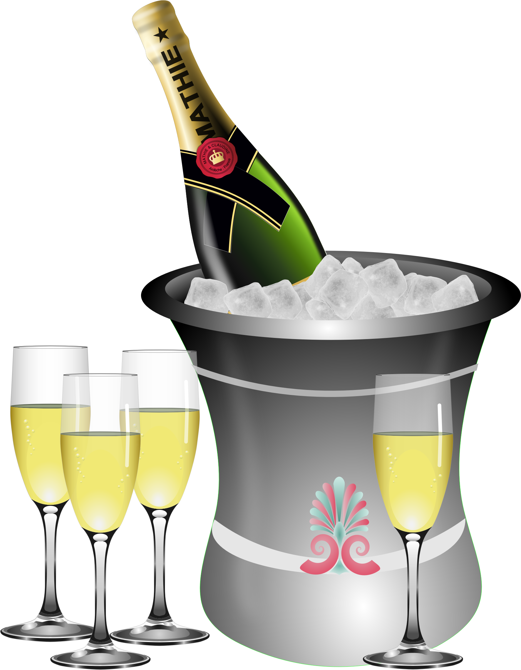 clipart champagne on ice remix rh openclipart org clipart champagne bottle popping clipart champagne bottle popping