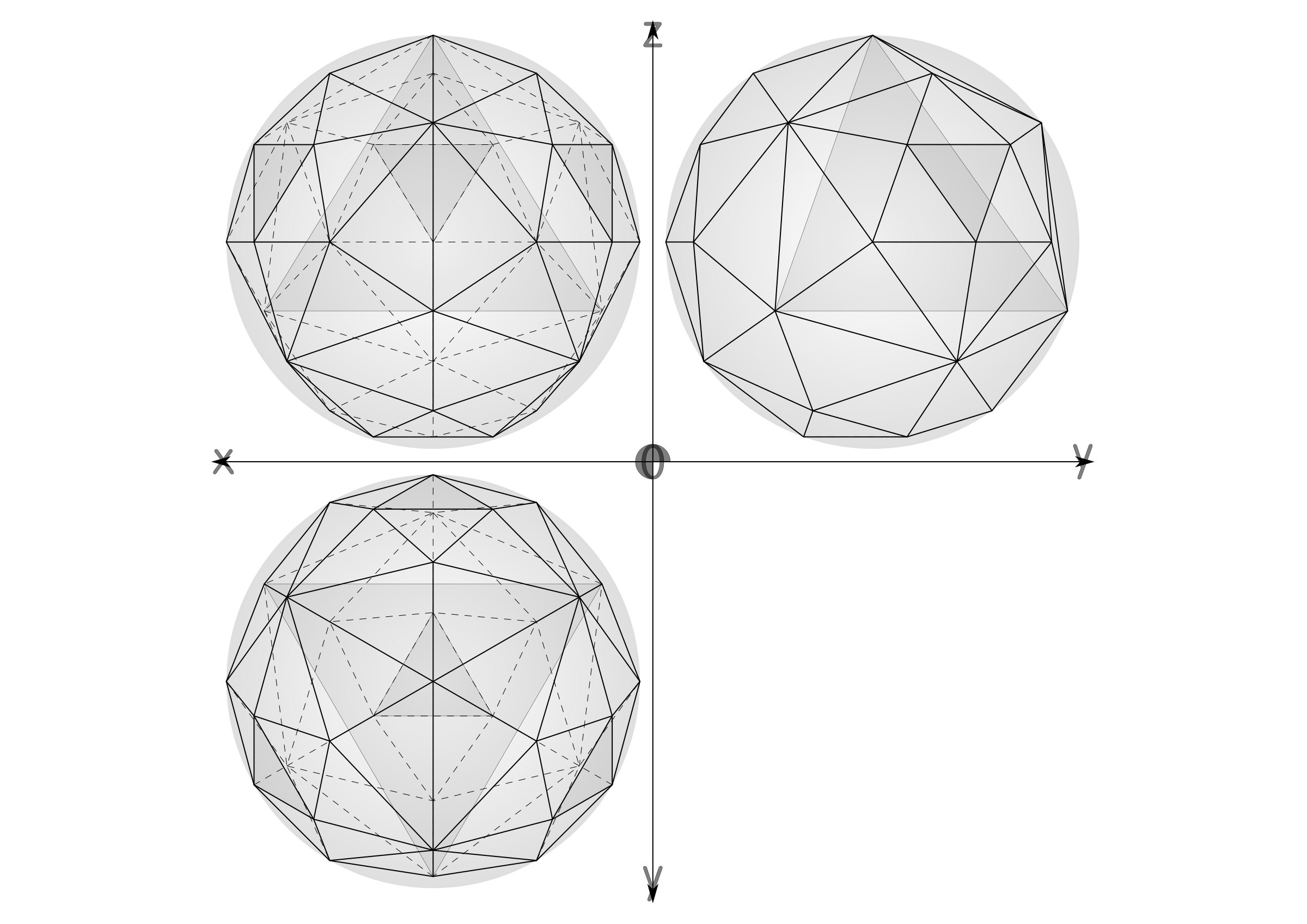 geodesic sphere recursive from tetrahedron, multiple layers by ric5sch