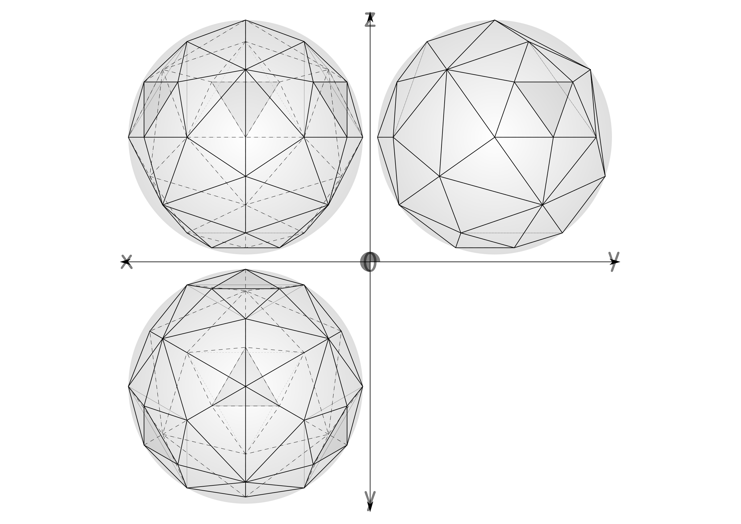 41 construction geodesic spheres recursive from tetrahedron by ric5sch