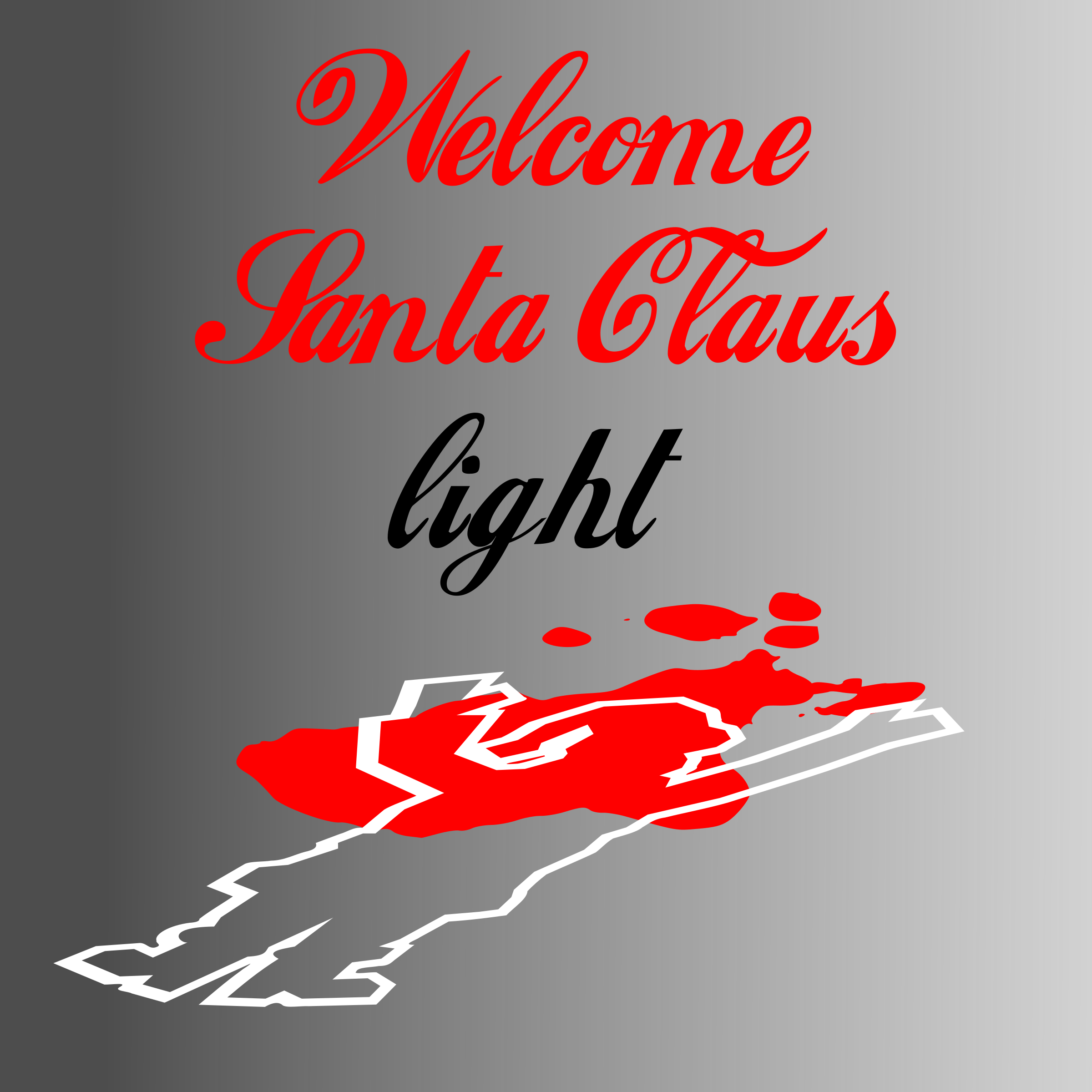 Welcome Santa Claus Light by picapica