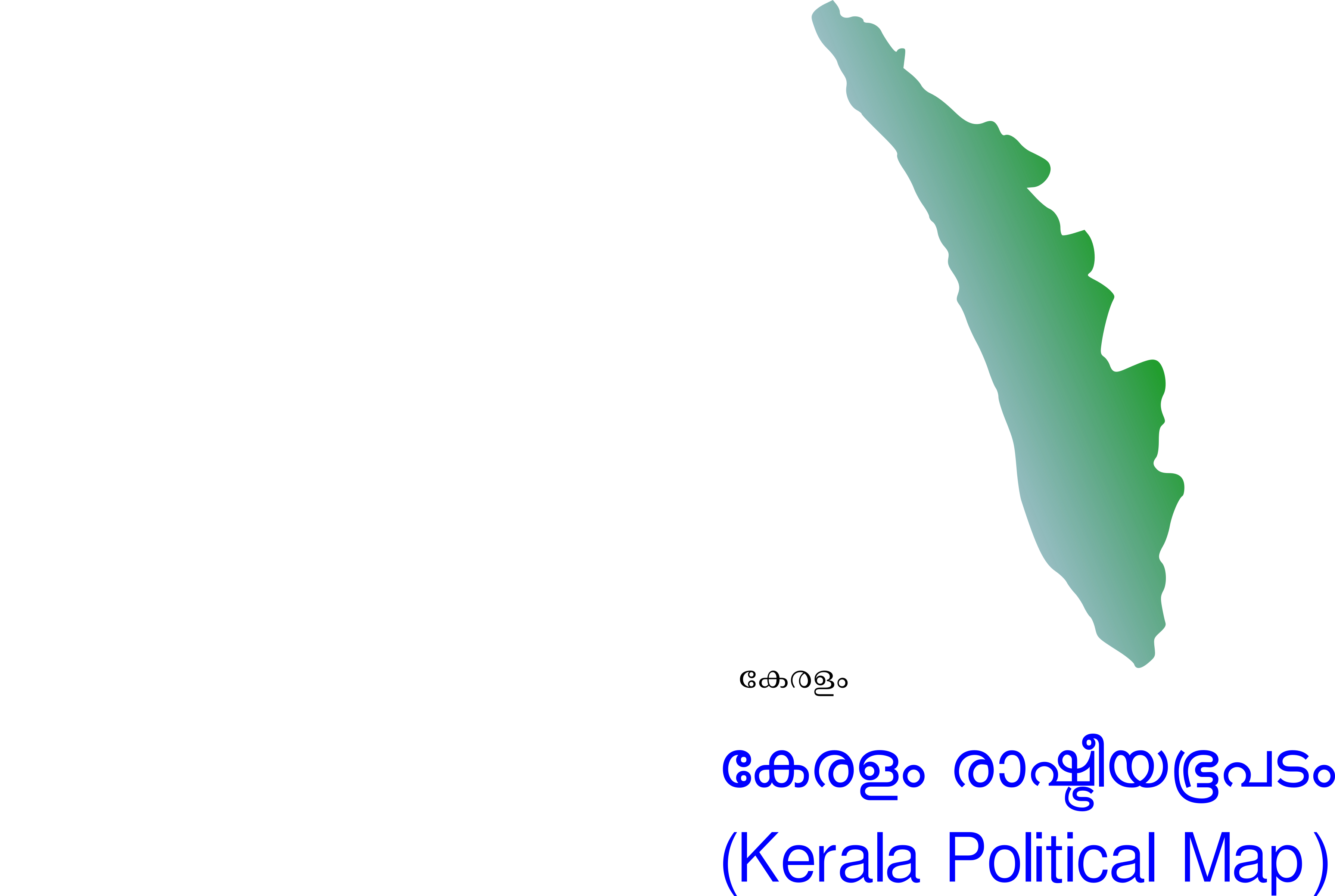 Kerala Political Map by navaneethks