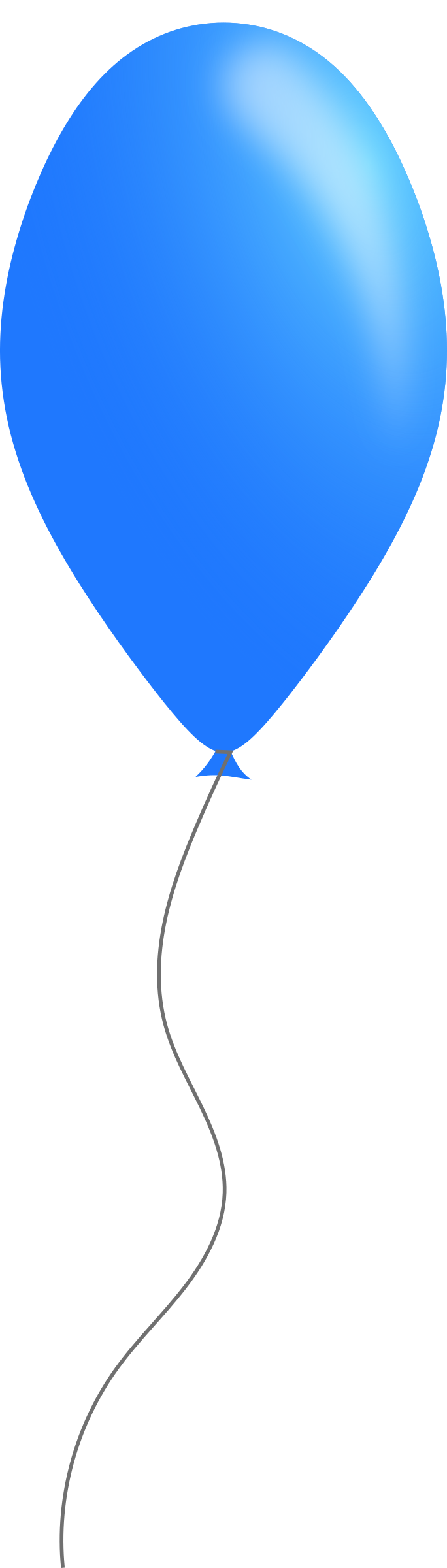 Blue balloon by Caig