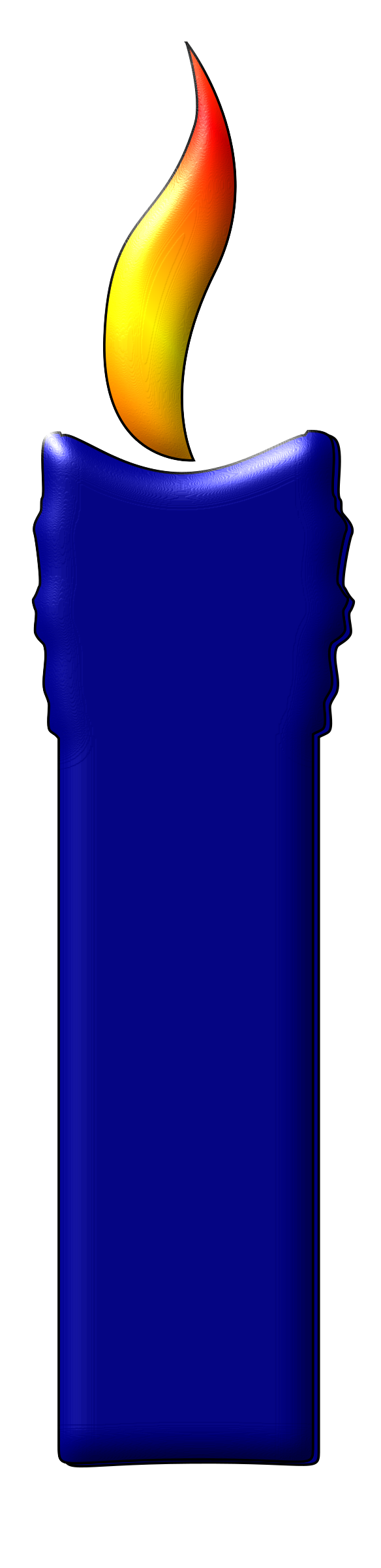 A Blue Color Candle by navaneethks