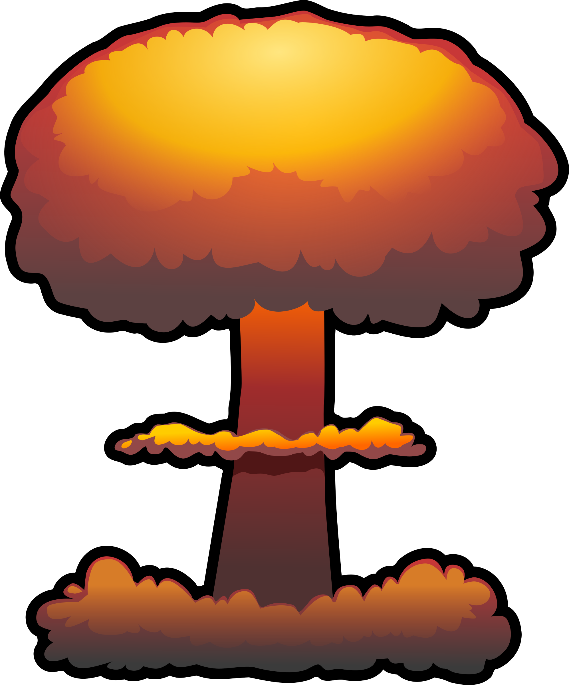 Clipart - nuclear explosion