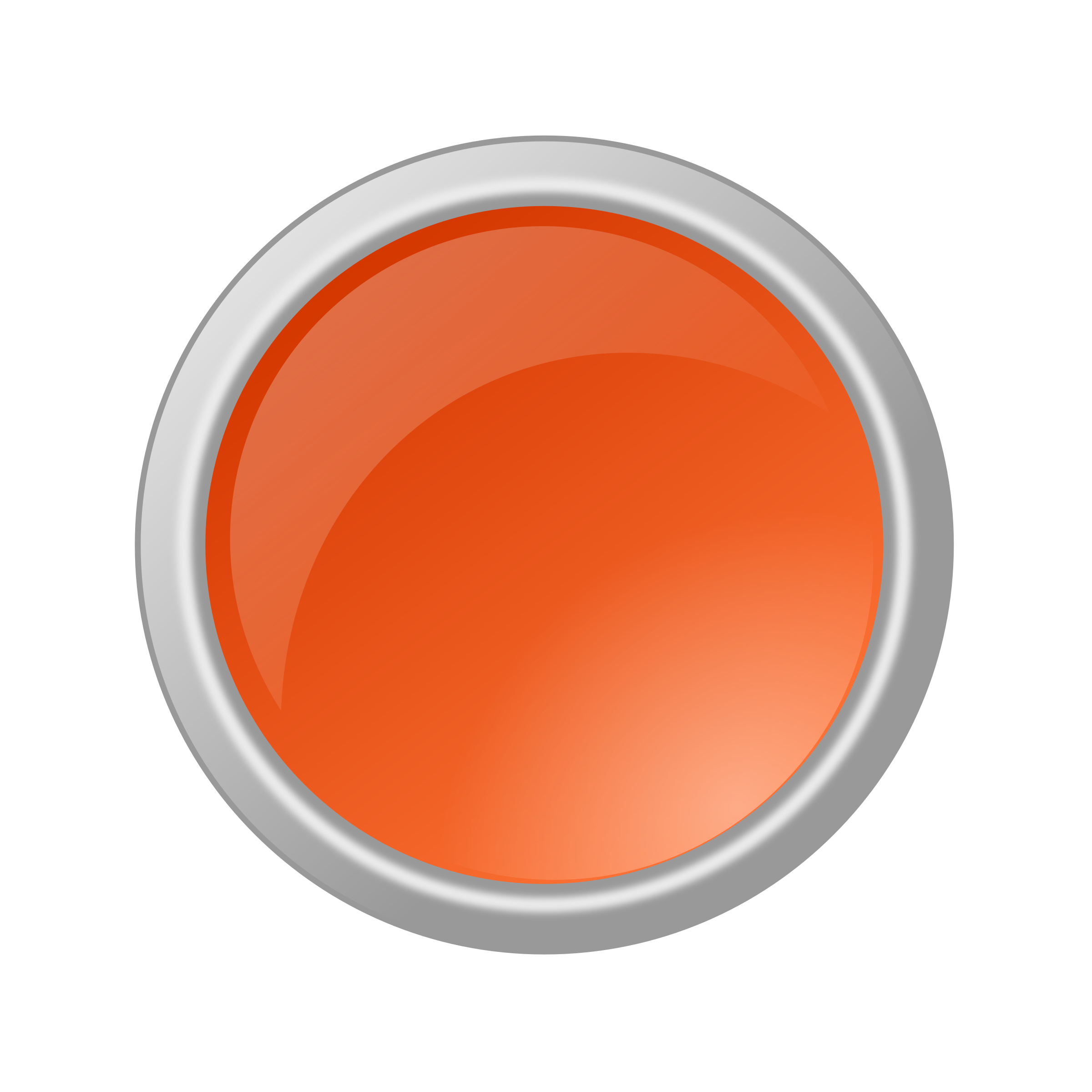 Glossy Orange Button by rygle
