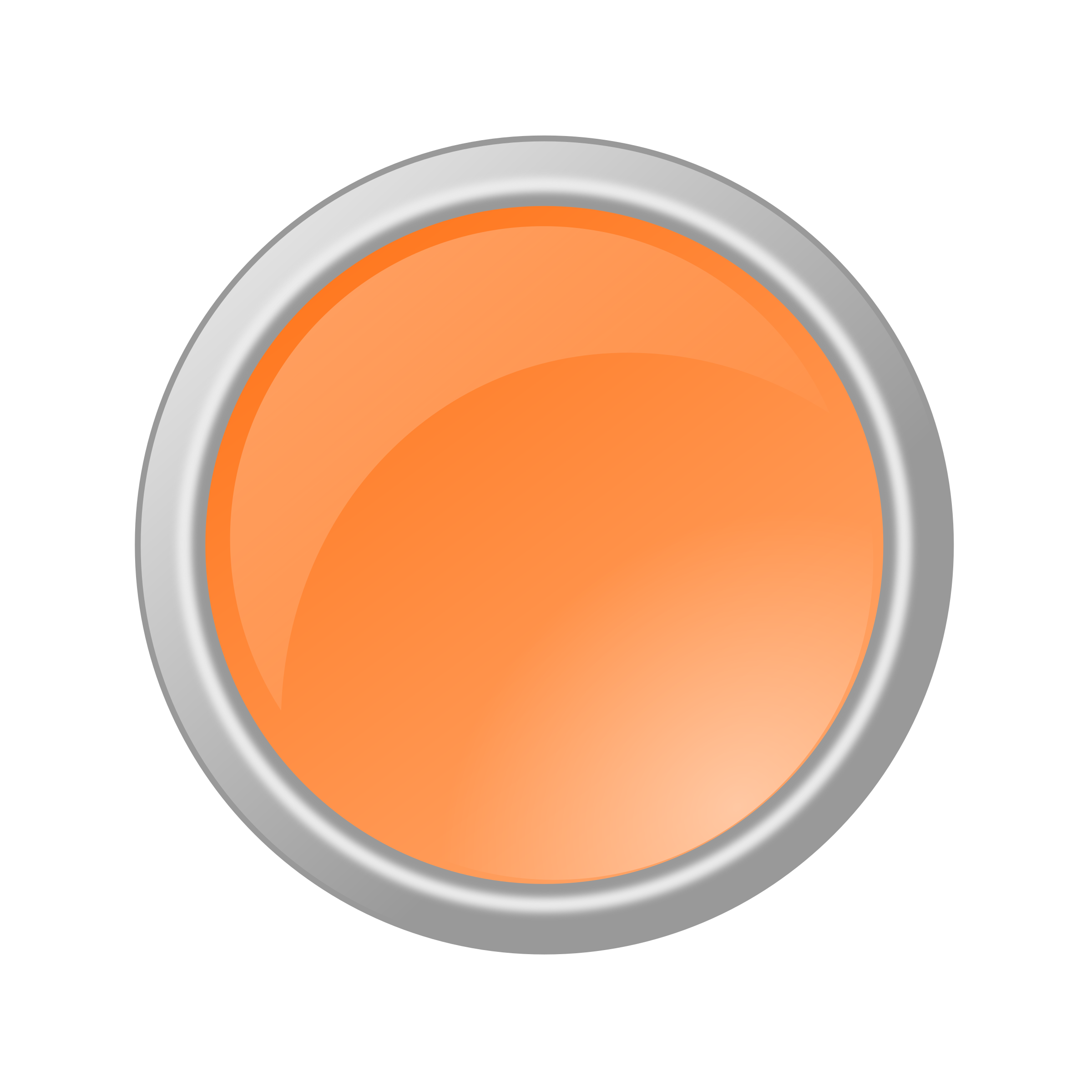Glossy Light Orange Button by rygle