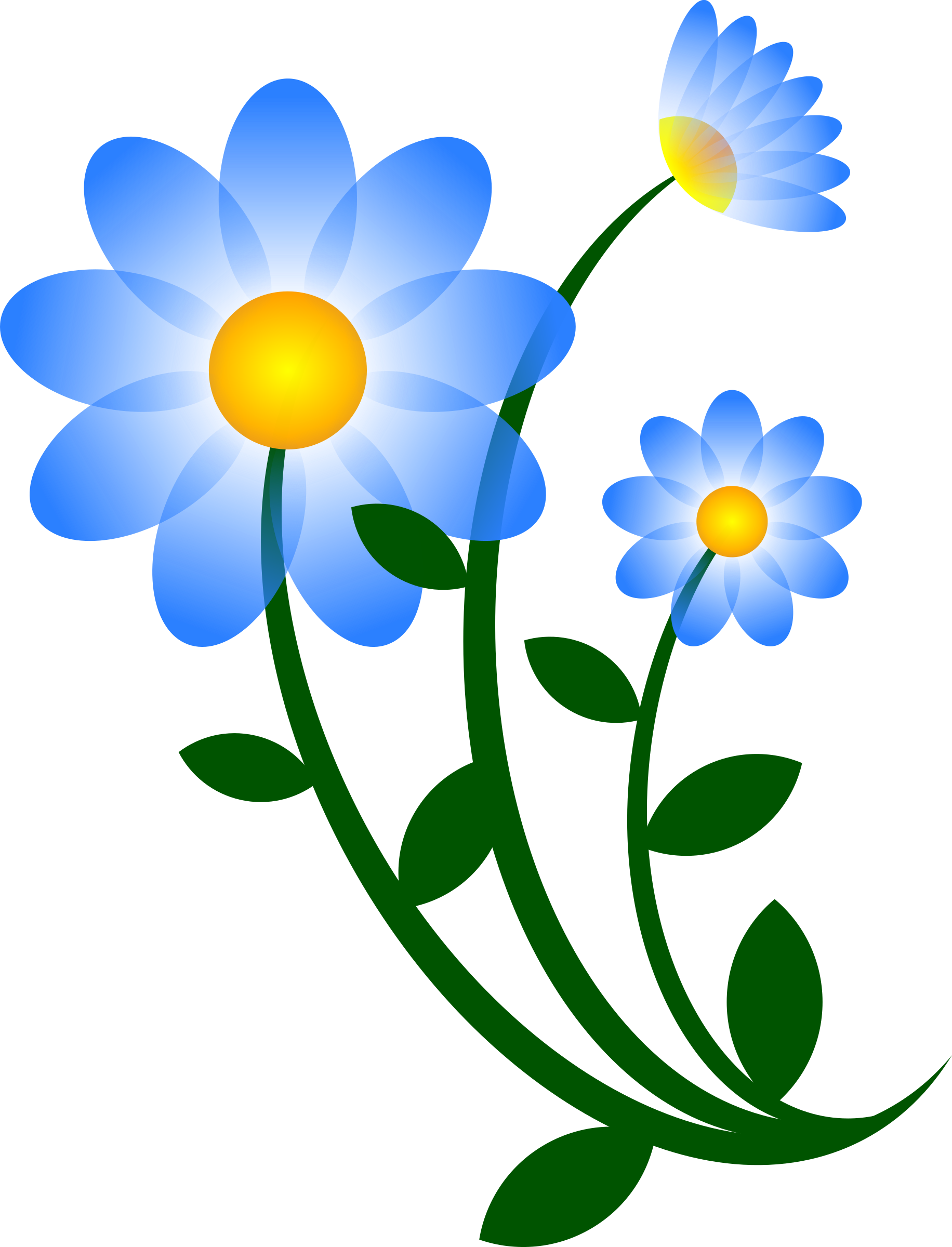 Blue Flower Motif by worker