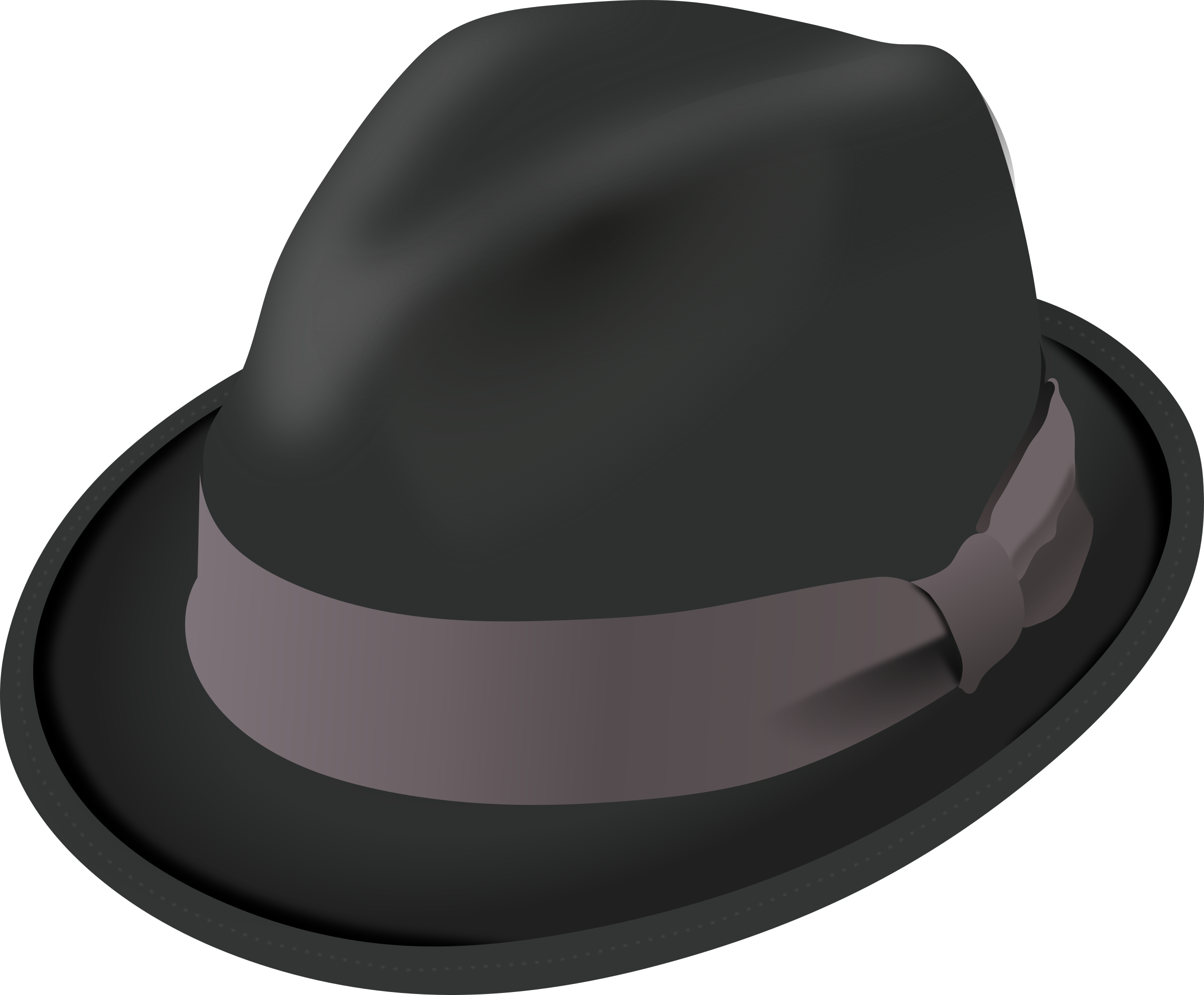 Trilby Hat by PomPrint