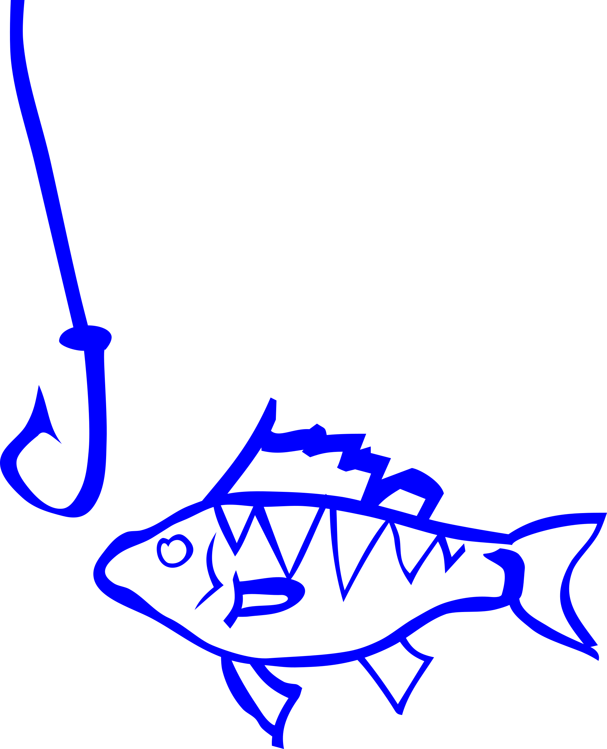 Clipart graffiti fish and hook for Hook and fish