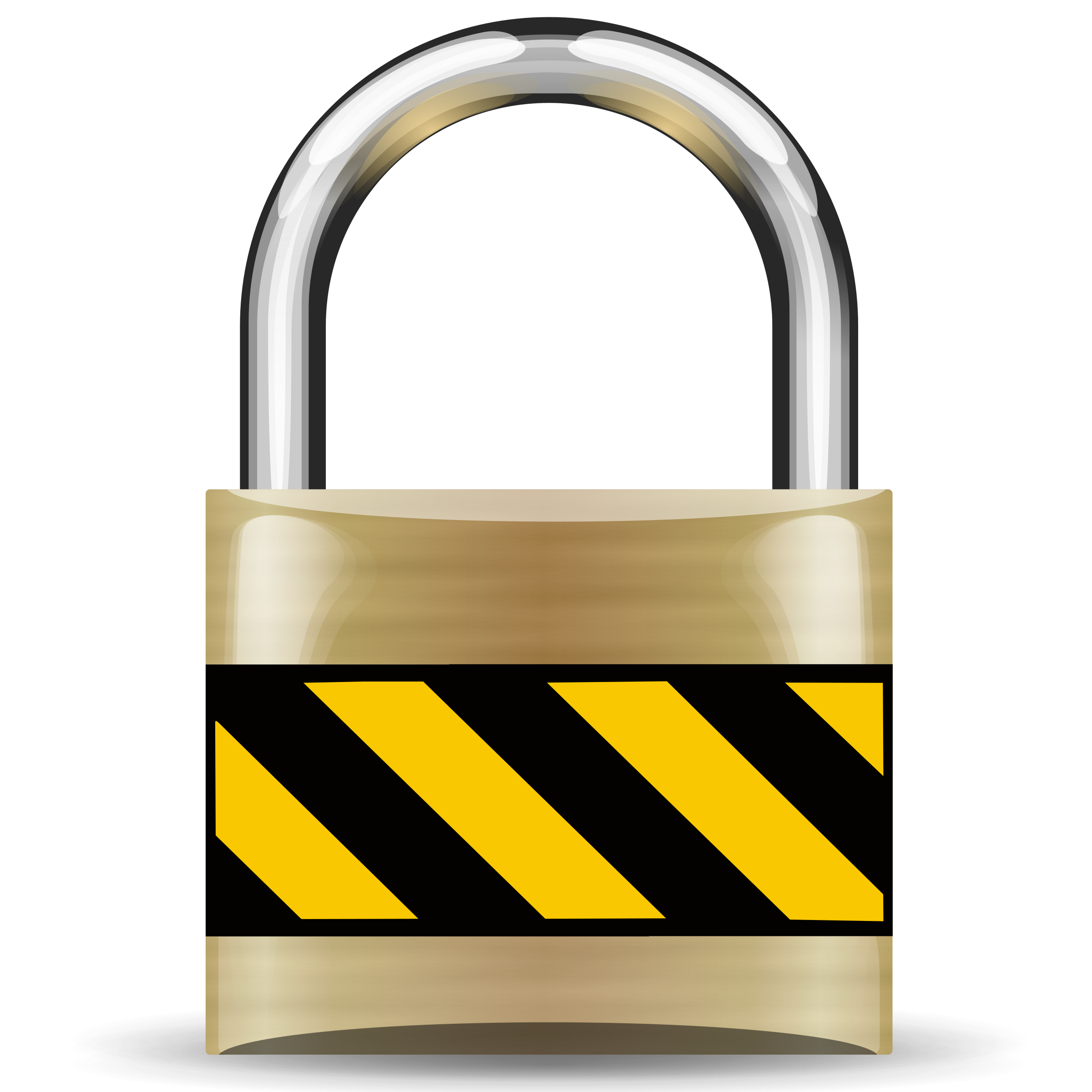 Secure Padlock Gold by rygle