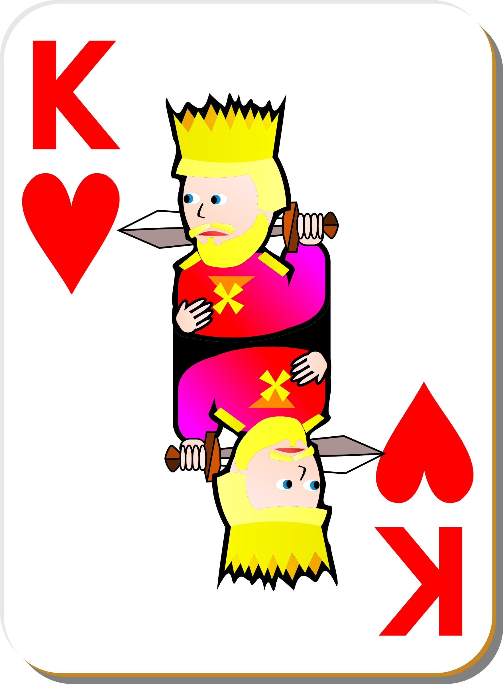 White Deck: King of Hearts by seanujones
