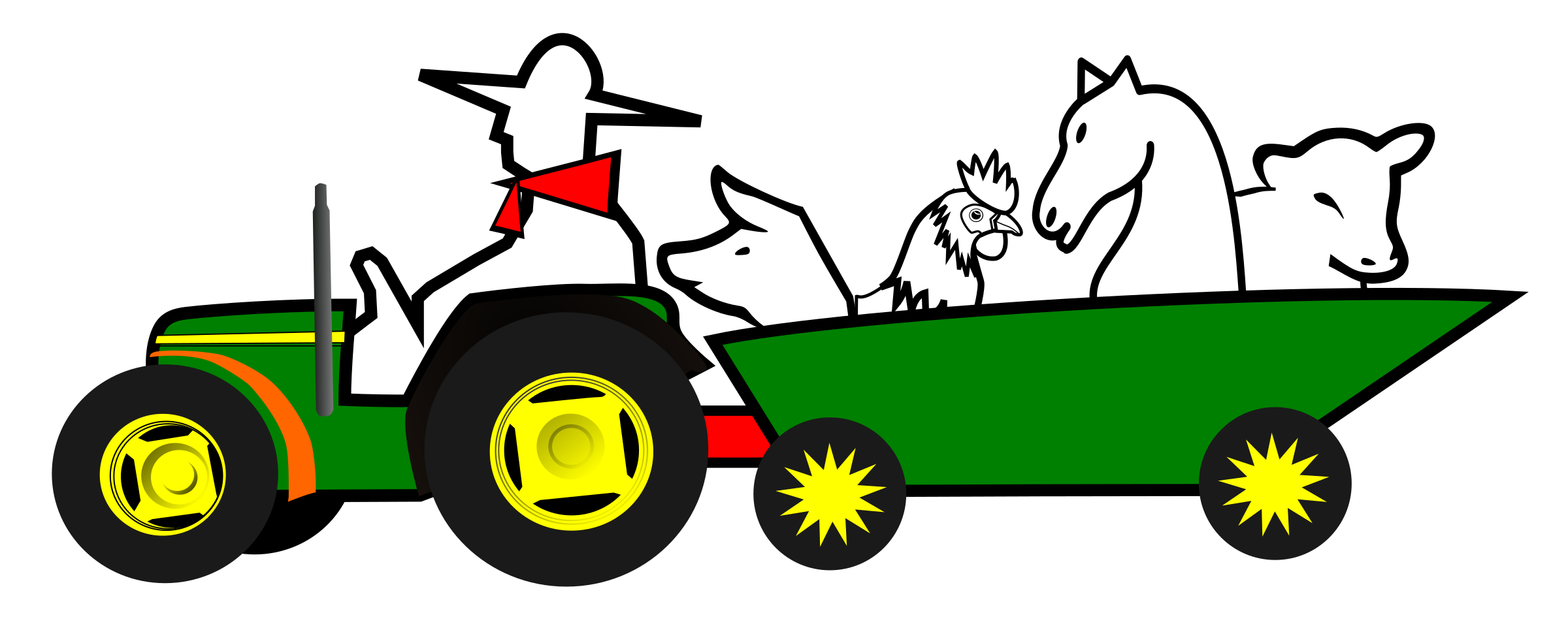Logo tractor animales by cairiza