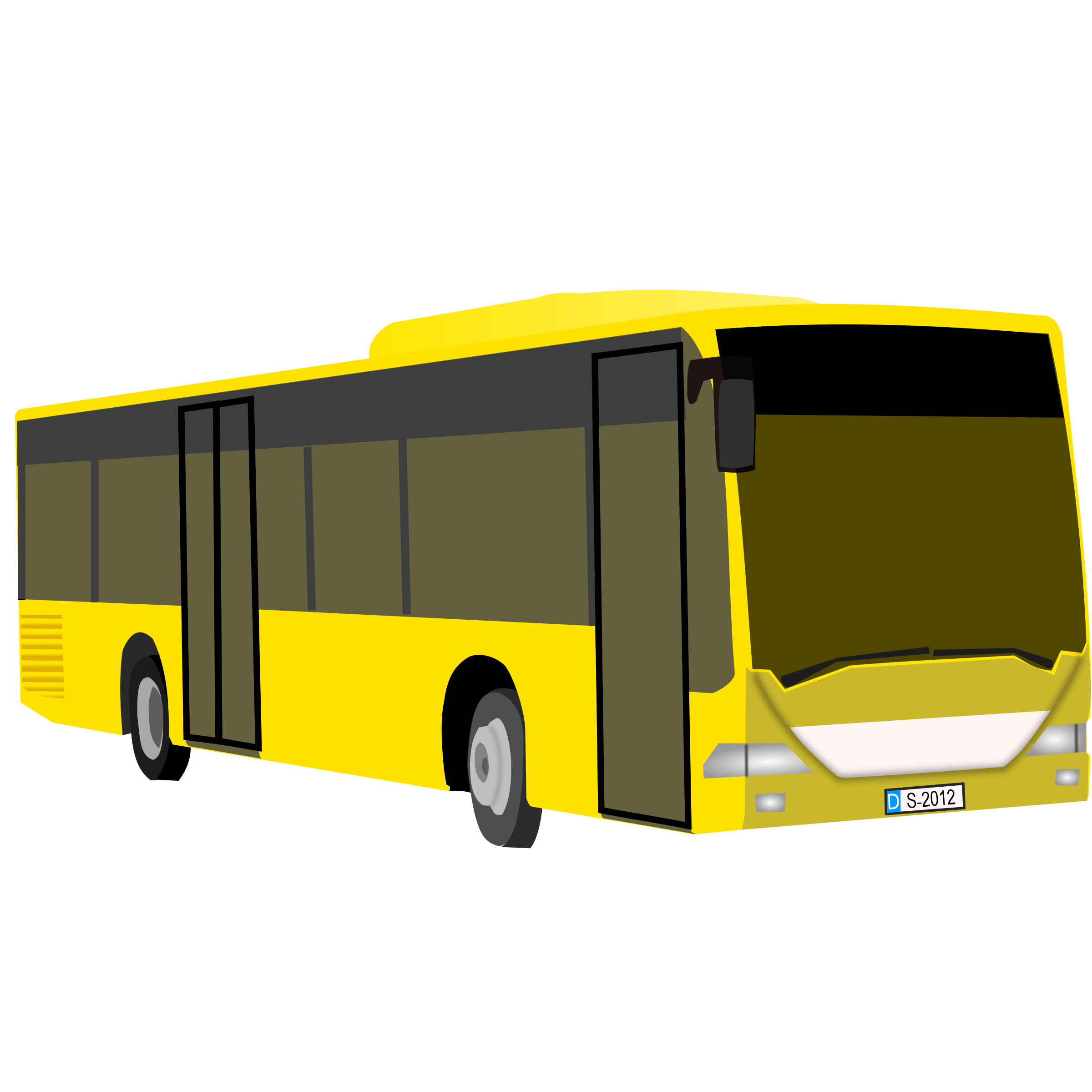 yellow bus by frankes