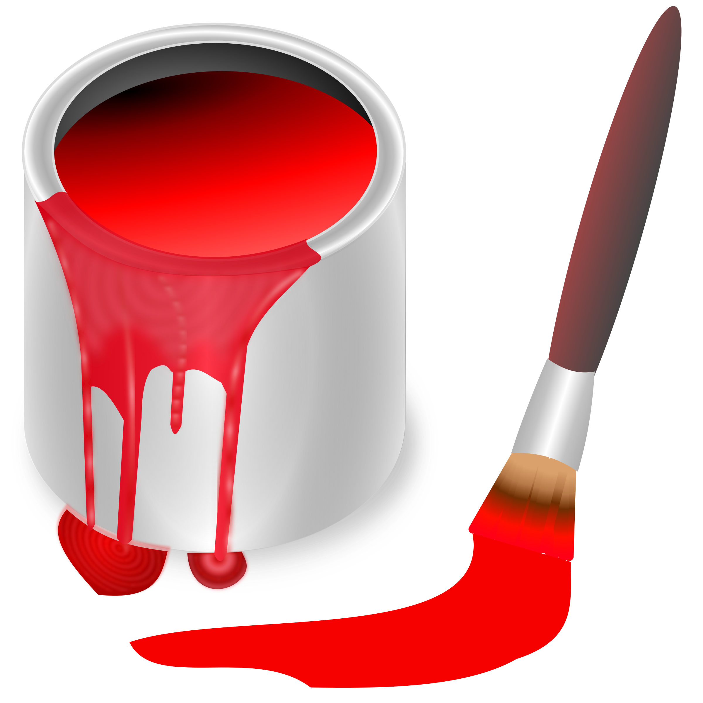 Clipart - color bucket red