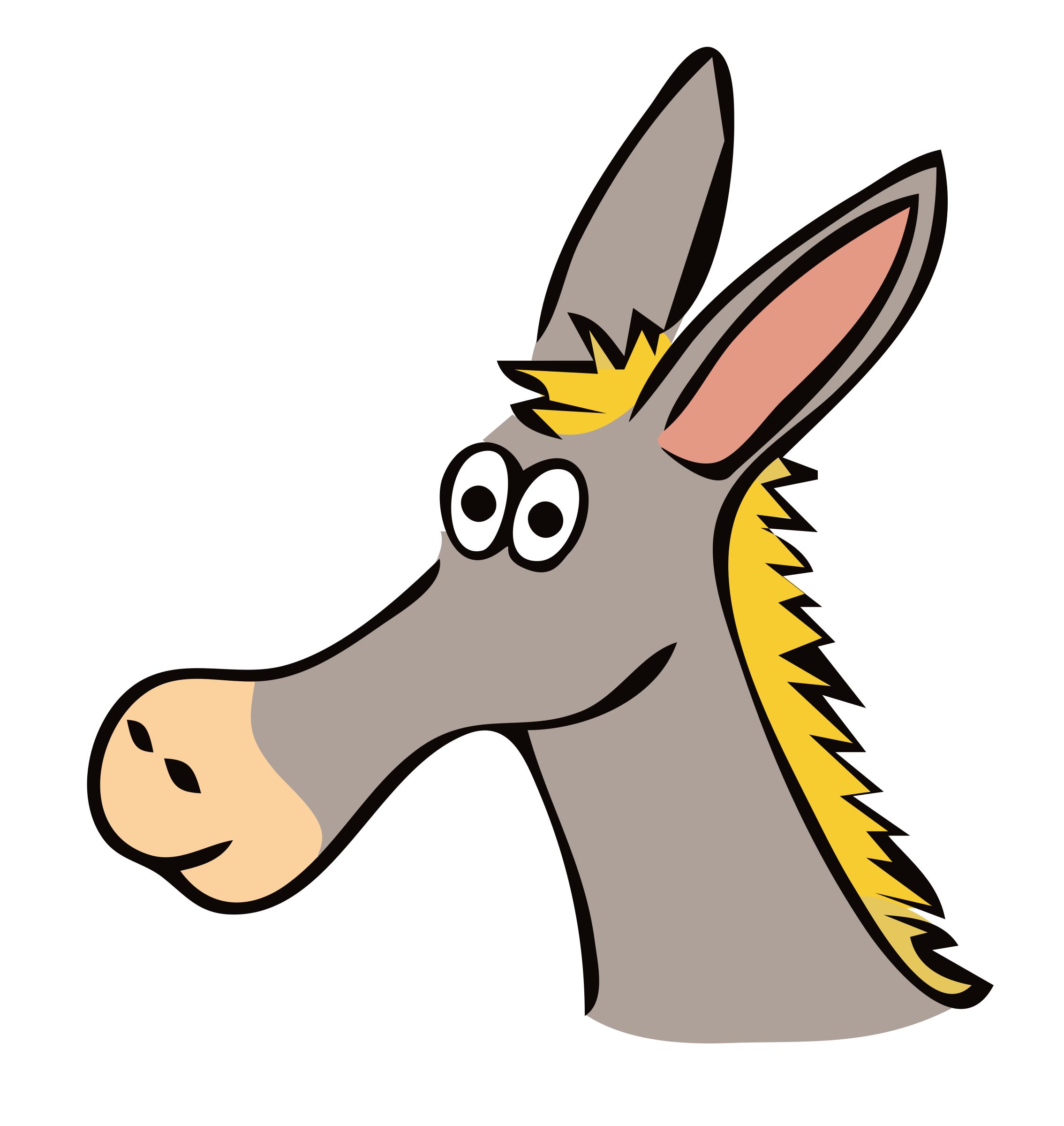 drawn donkey by frankes