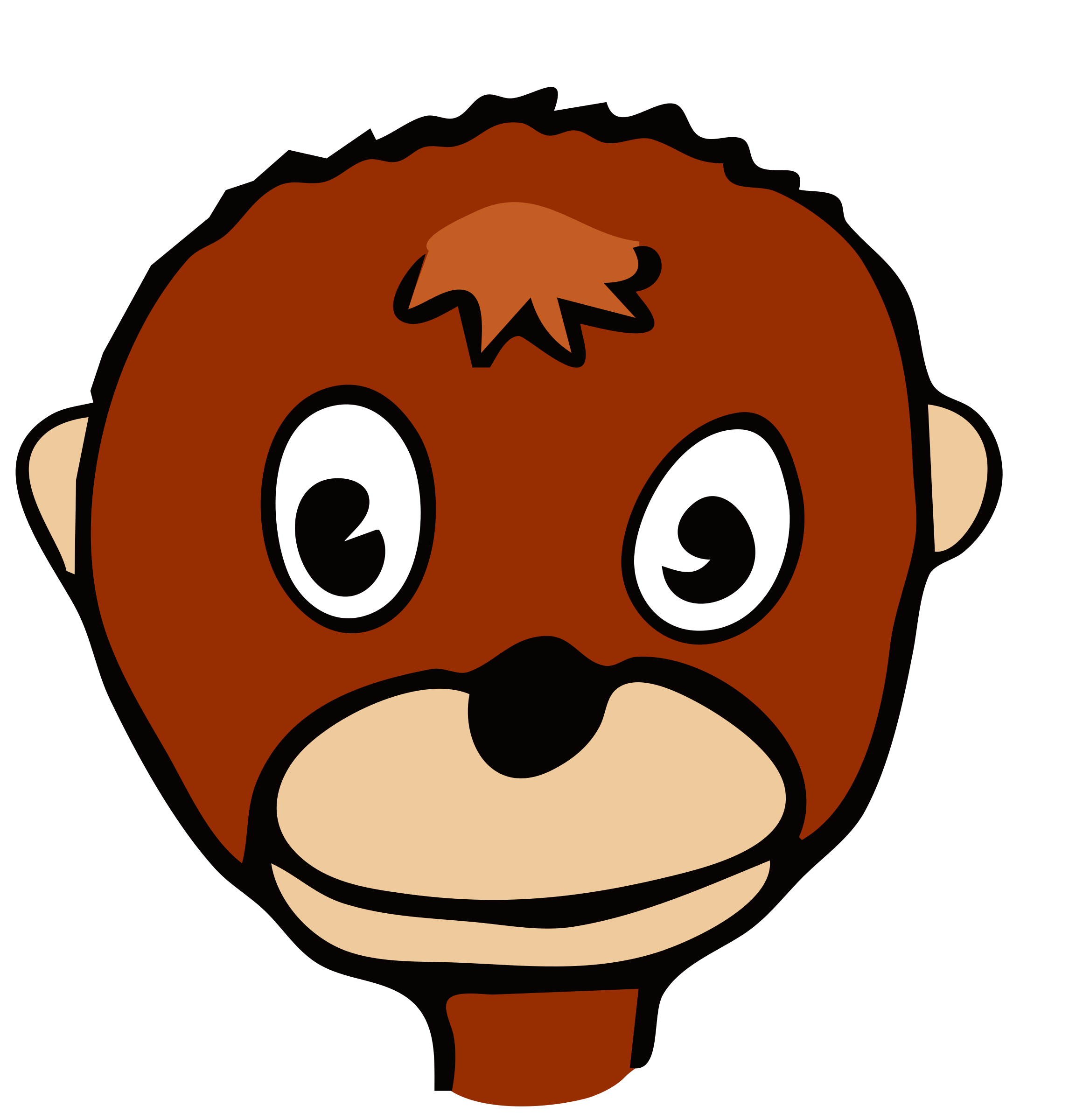 drawn monkey by frankes