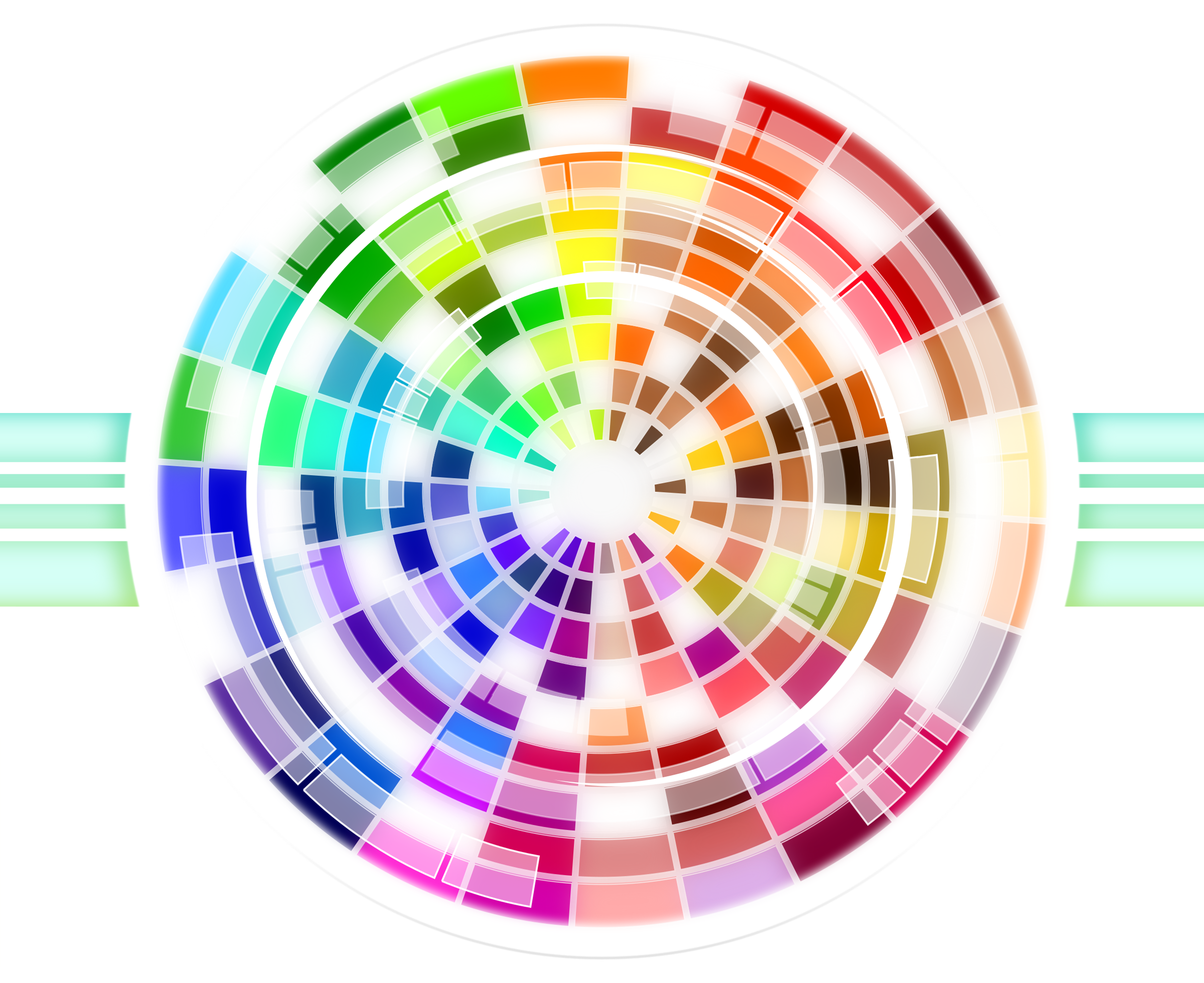 Multicolored Wheel Abstract Background by Viscious-Speed