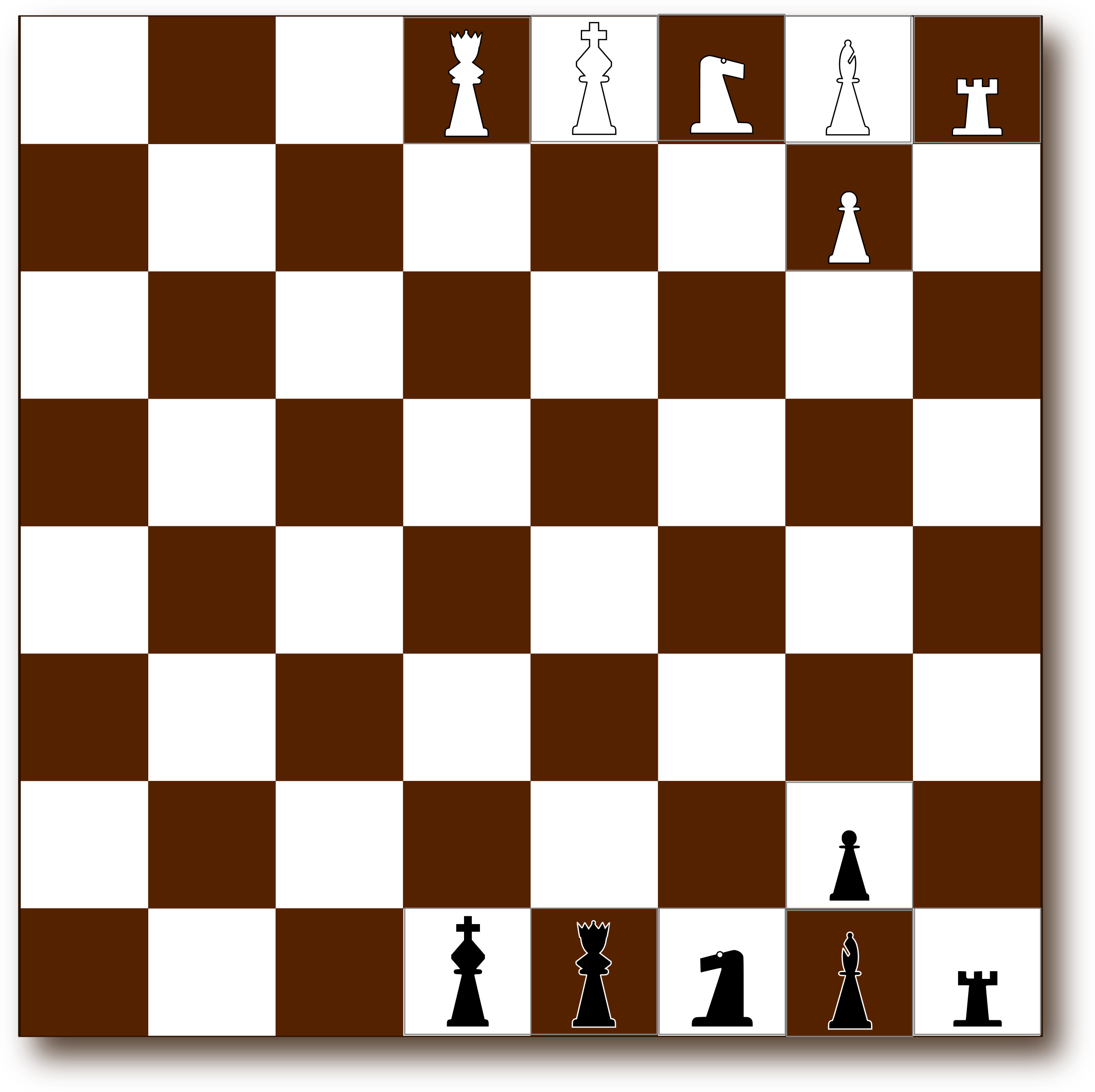 Chessboard 2d Brown by Eggib