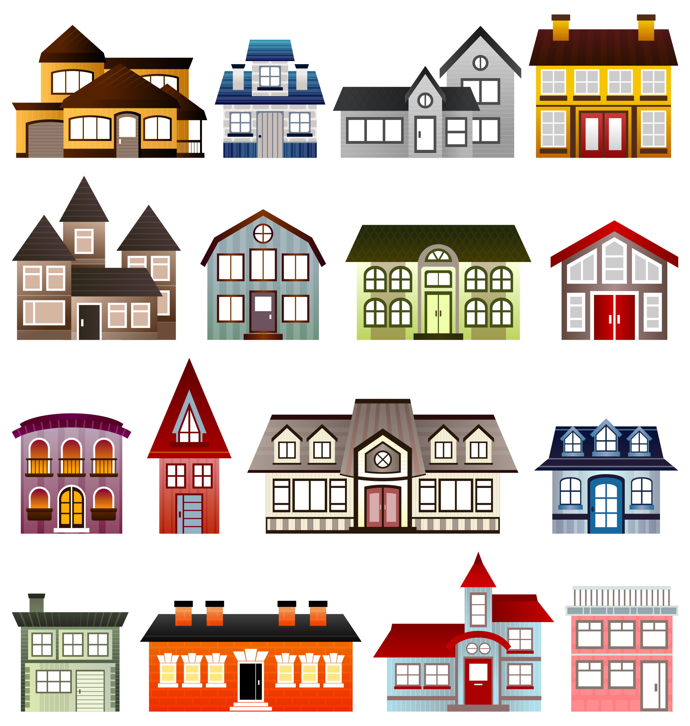 Simple Houses by Viscious-Speed