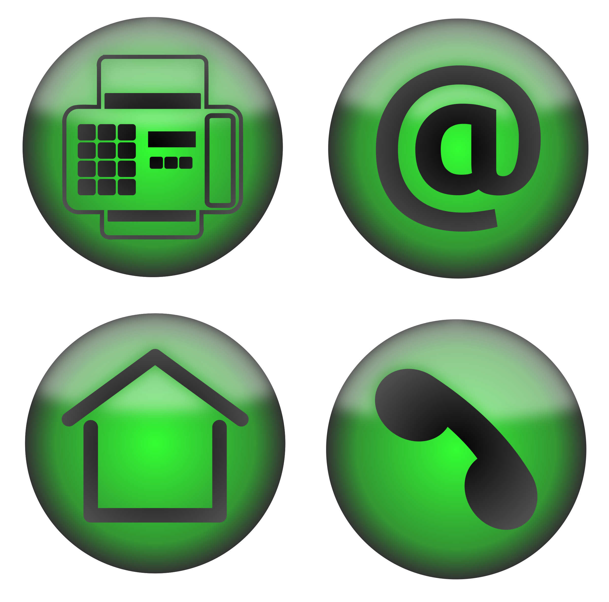 Four Contact Icons by PomPrint