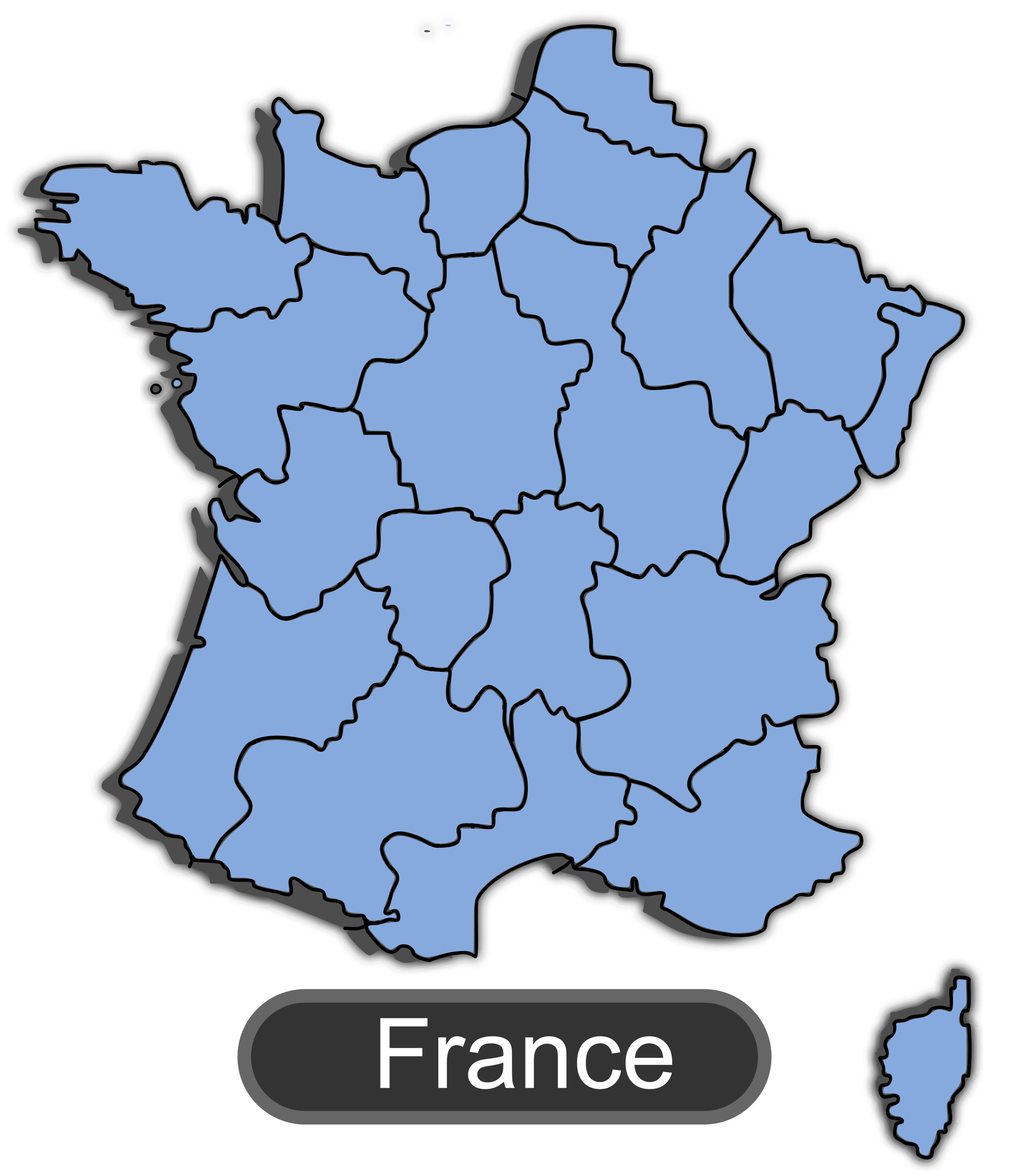 Map of France by maxime8