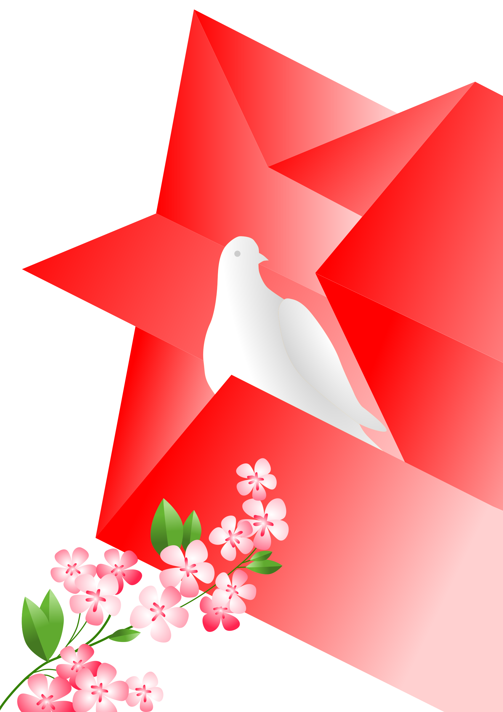 soviet poster dove in star by worker