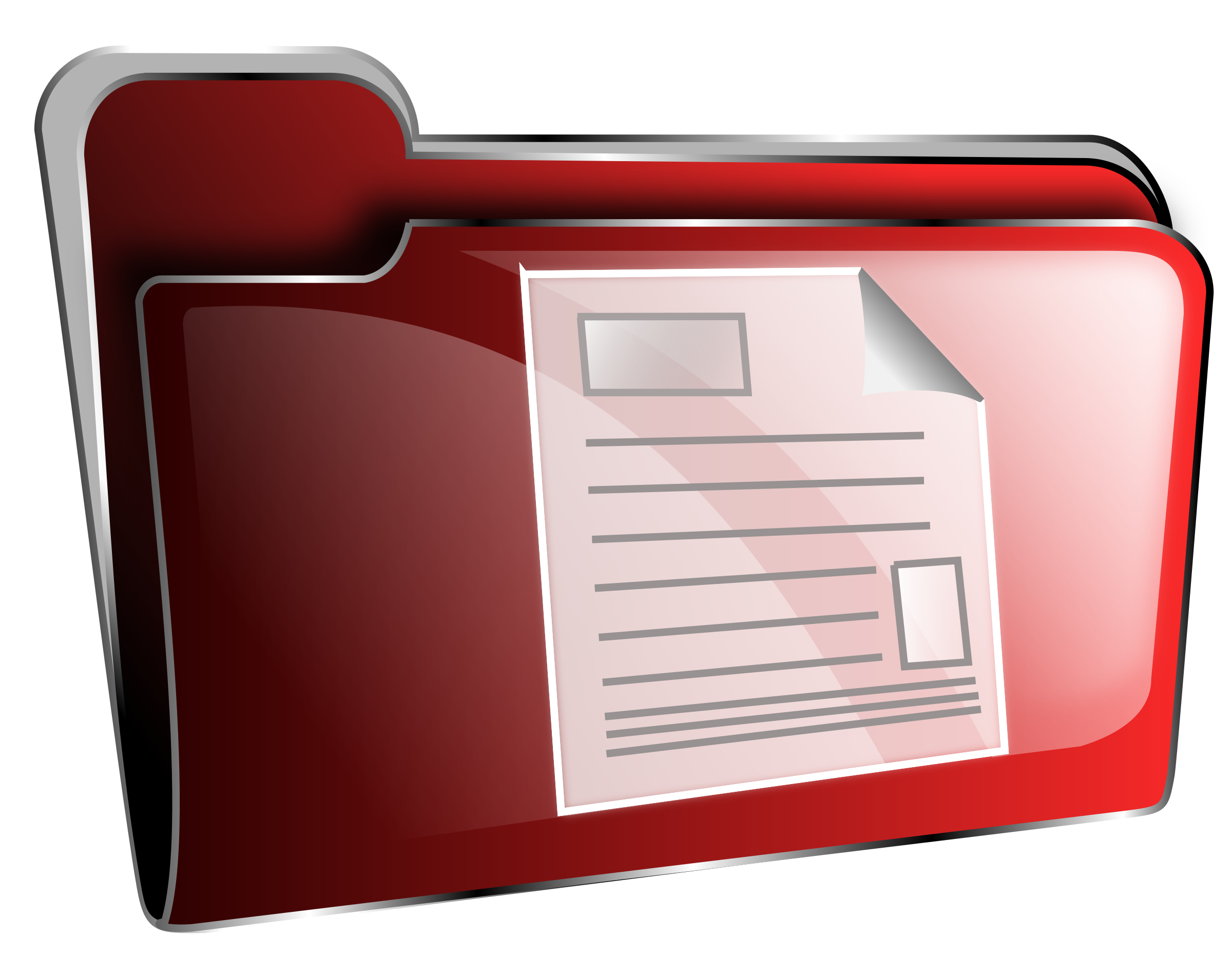 Folder icon red document by roshellin